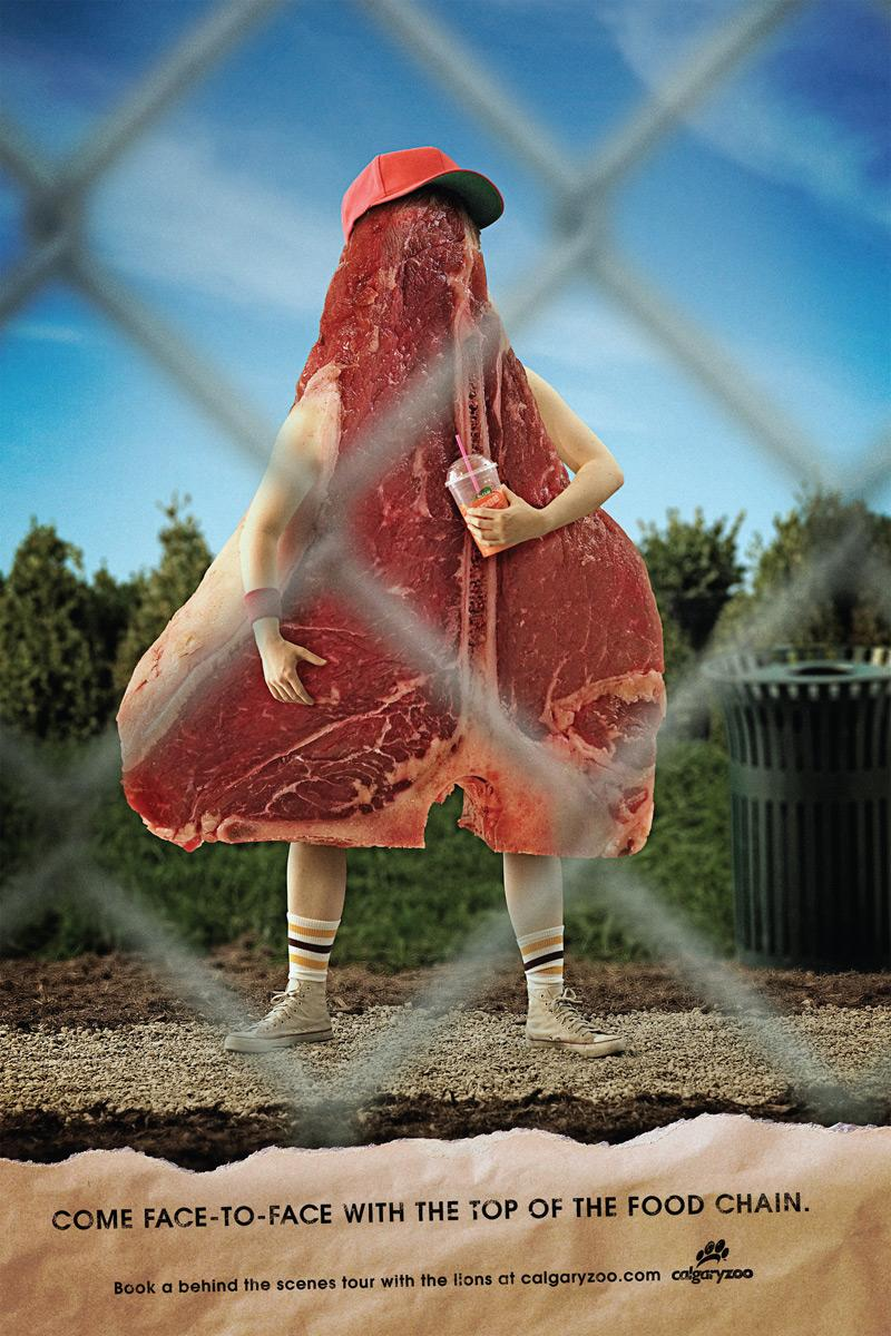 Calgary Zoo Print Ad -  Steak