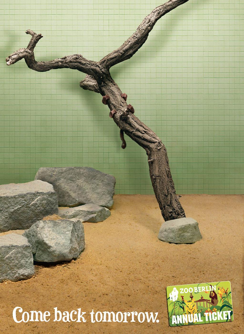 Zoo Berlin Print Ad -  Come back tomorrow