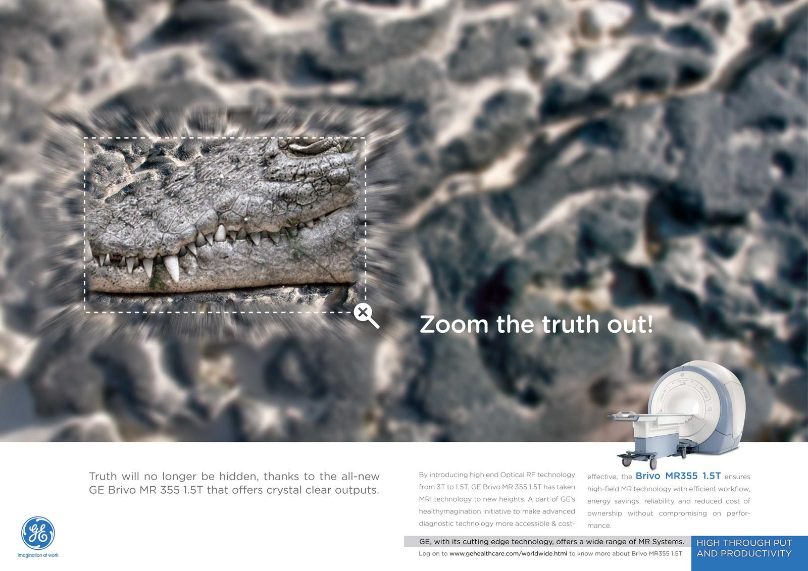 GE Print Ad -  Zoom the truth out, 1