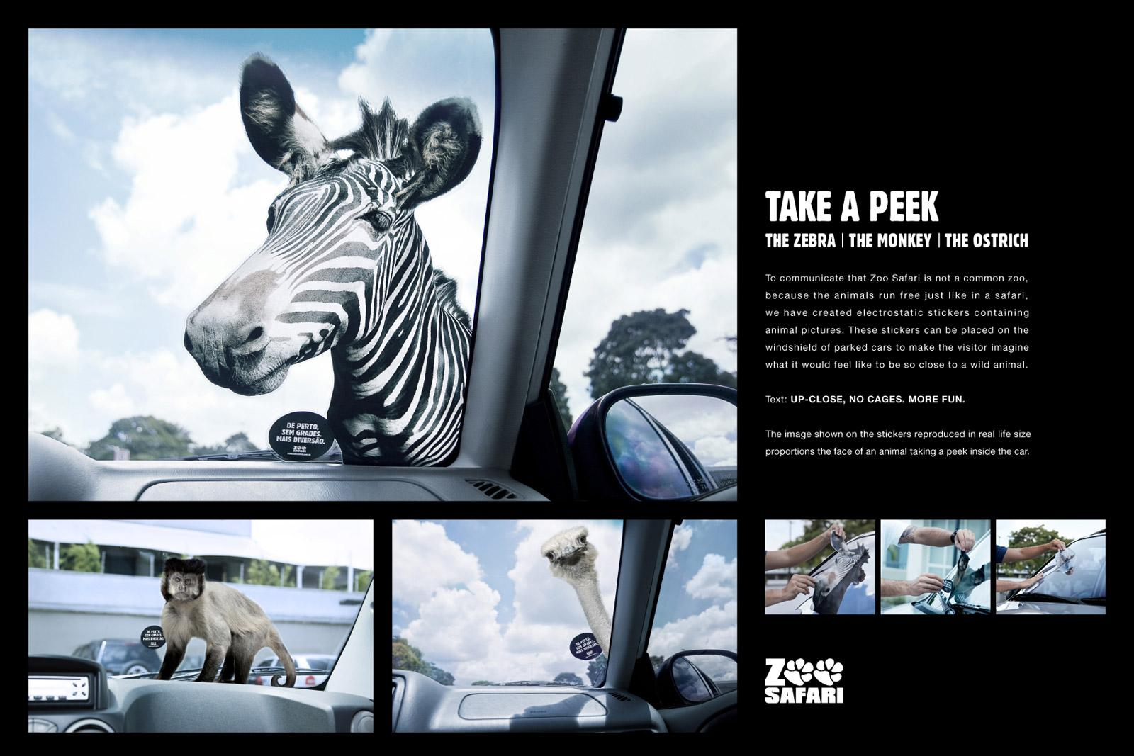 Zoo Safari Ambient Ad -  Stickers
