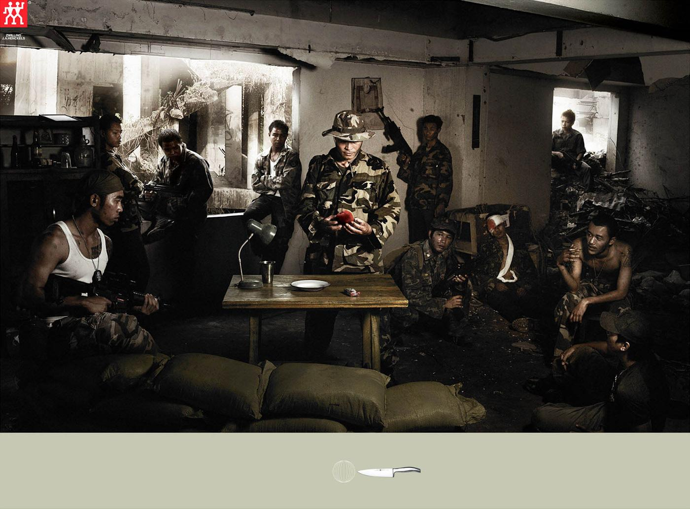 Zwilling Print Ad -  Soldier
