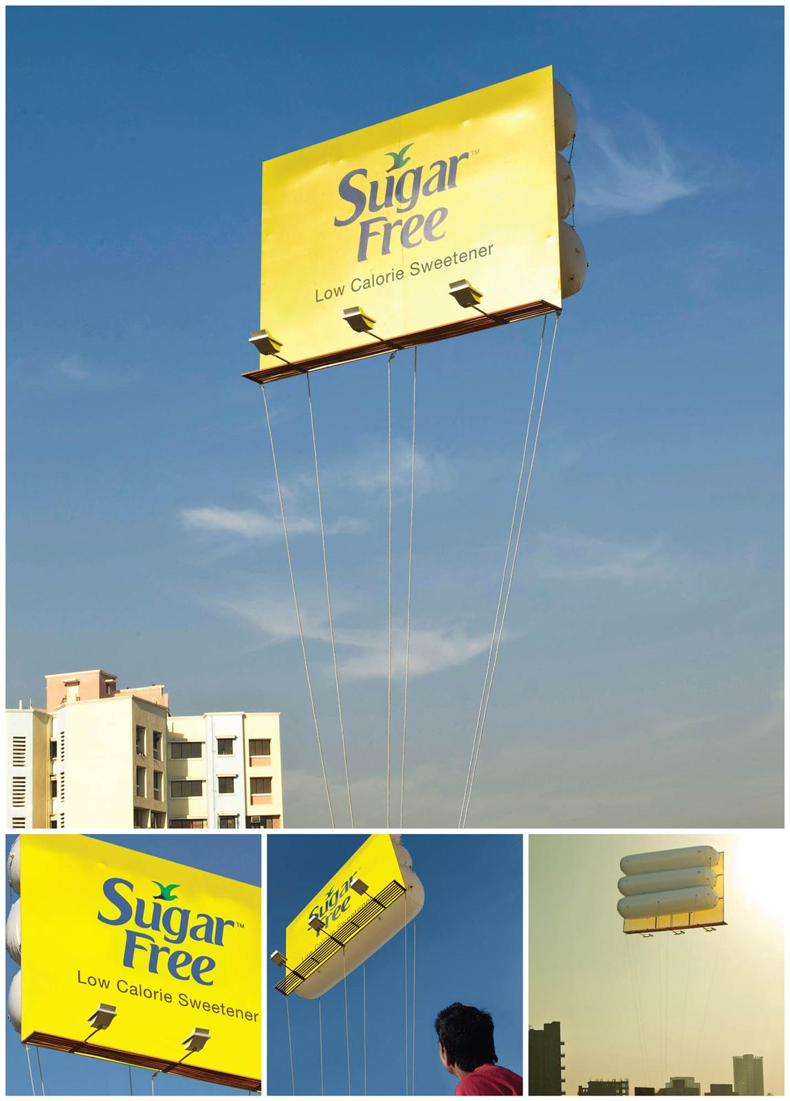 Sugar Free Outdoor Ad -  Floating Billboard