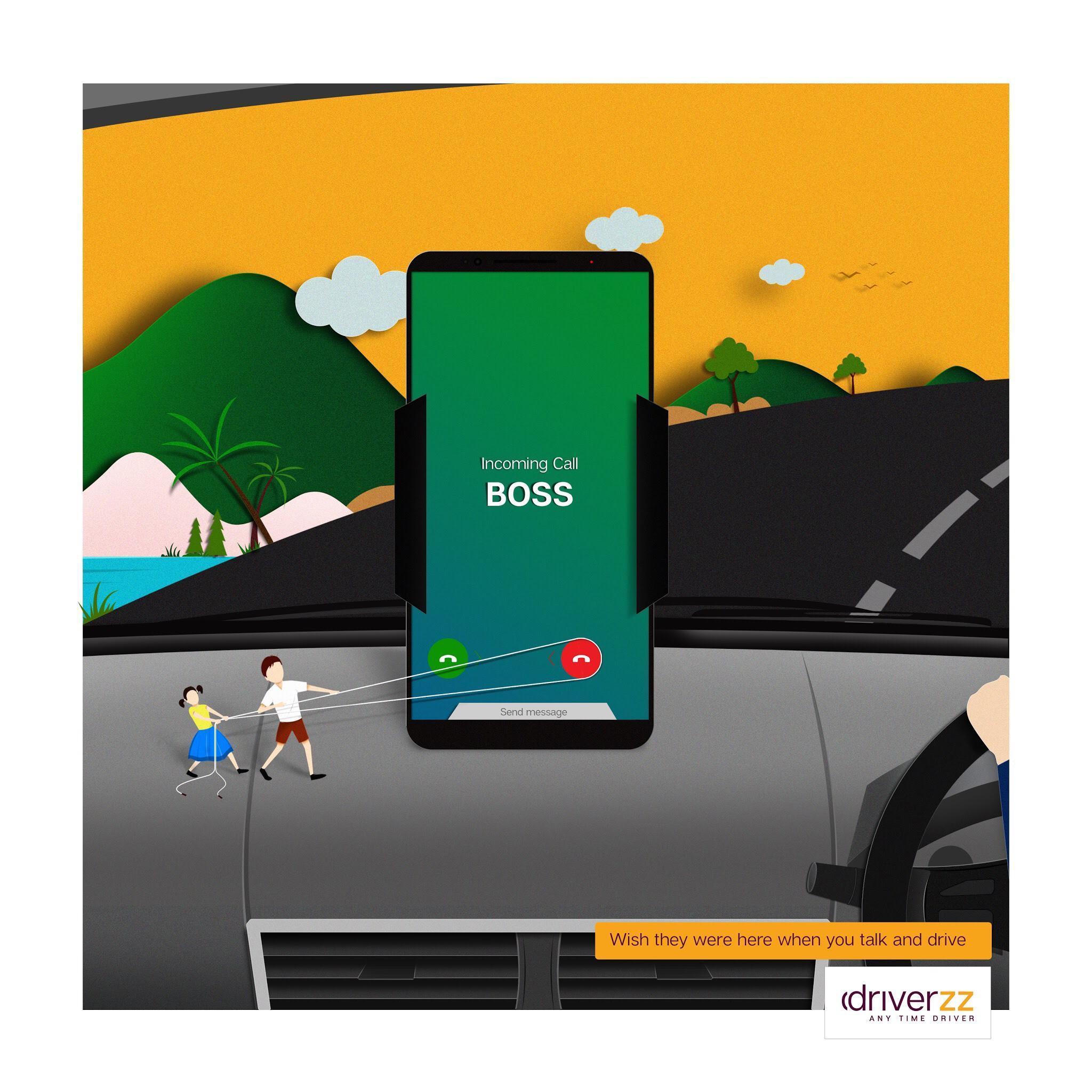 Driverzz Print Ad - Talk & Drive