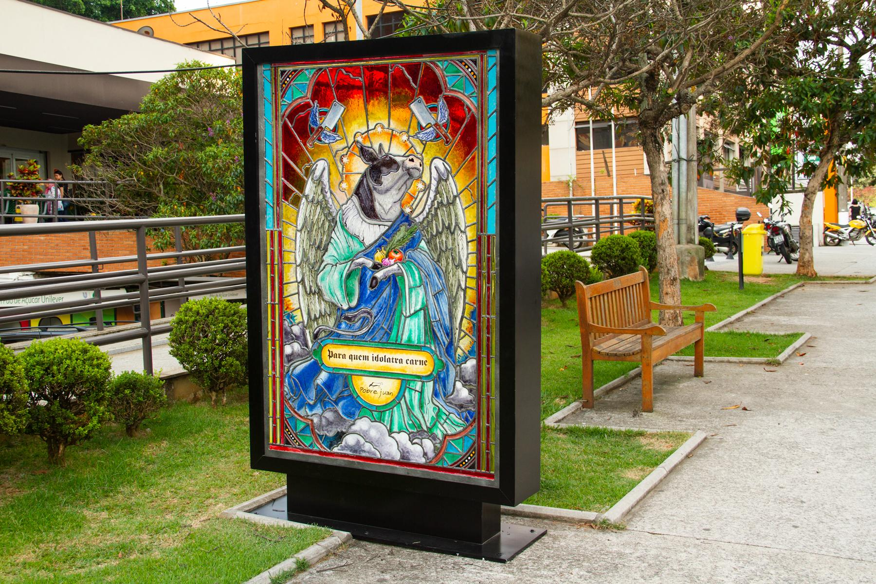 Pobre Juan Outdoor Ad - Sacred Poster