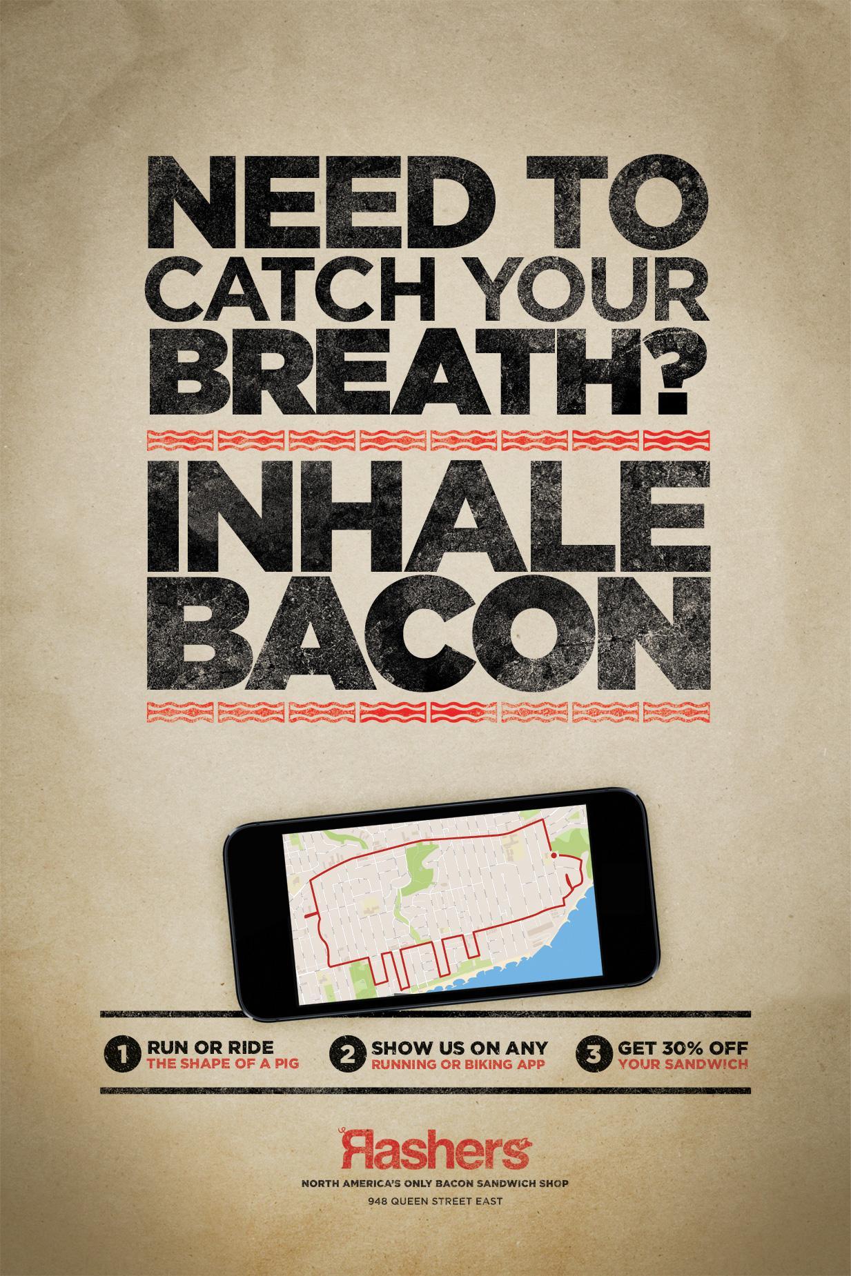 Rashers Print Ad -  Inhale