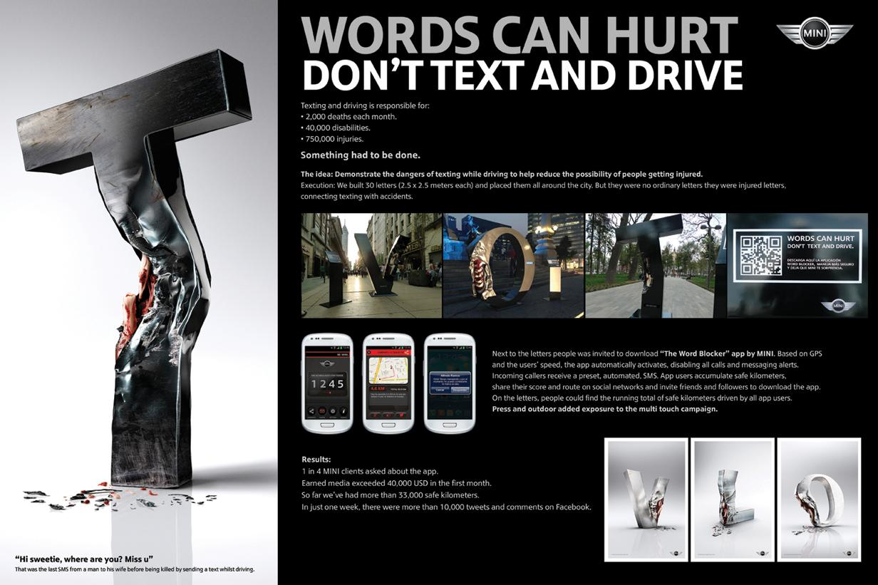 Mini Outdoor Ad -  Injured Text