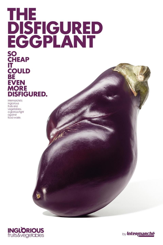 Intermarche Print Ad -  Disfigured eggplant