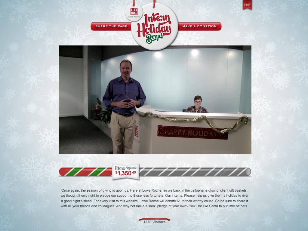 Lowe Digital Ad -  Intern Holiday Bonus