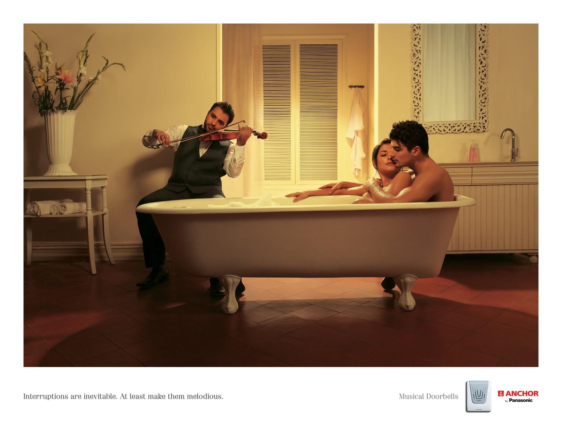 Panasonic Print Ad -  Interruptions Bath