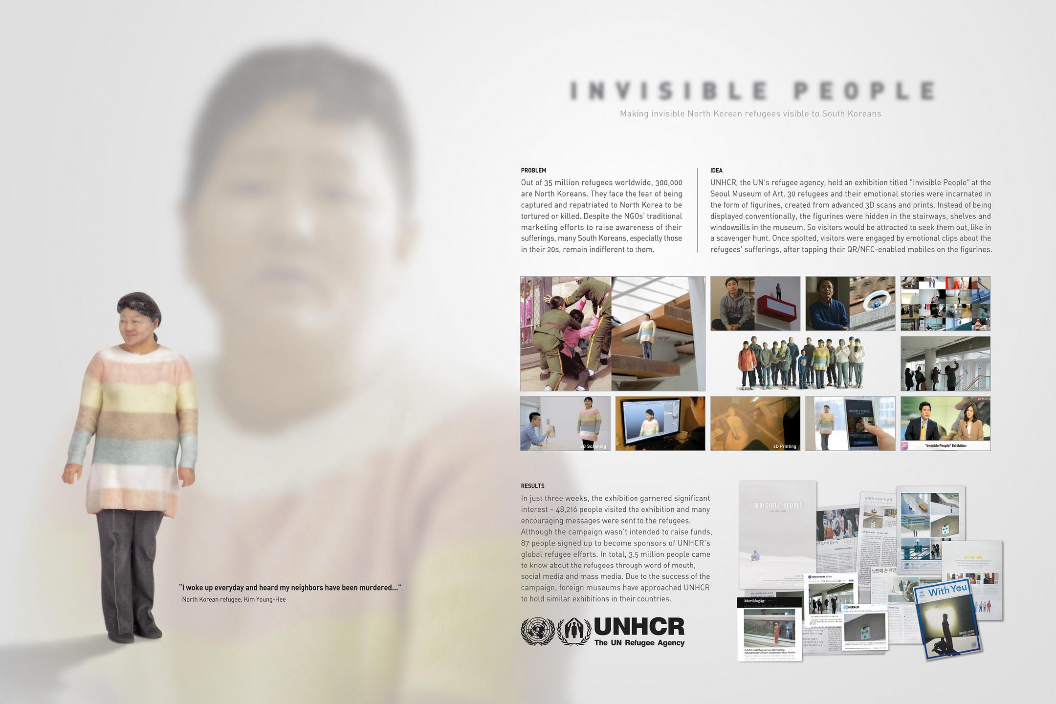 UNHCR Ambient Ad -  Invisible people