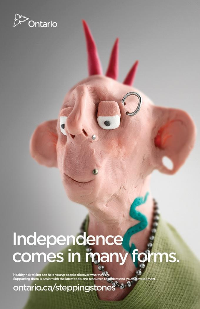 Ontario Ministry of Child and Youth Services Print Ad -  Independence