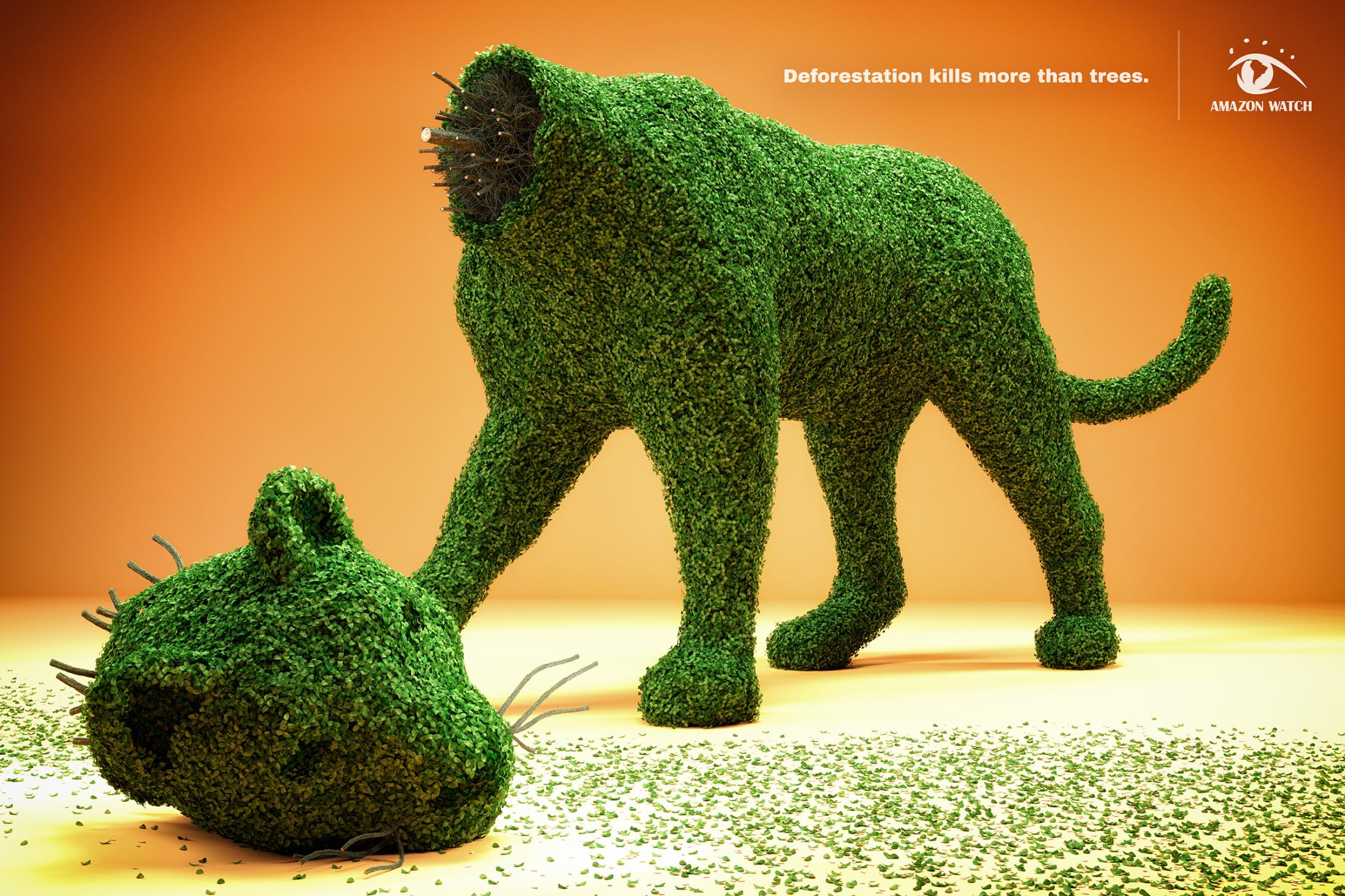 Amazon Watch Print Ad - Topiary Terror - Jaguar