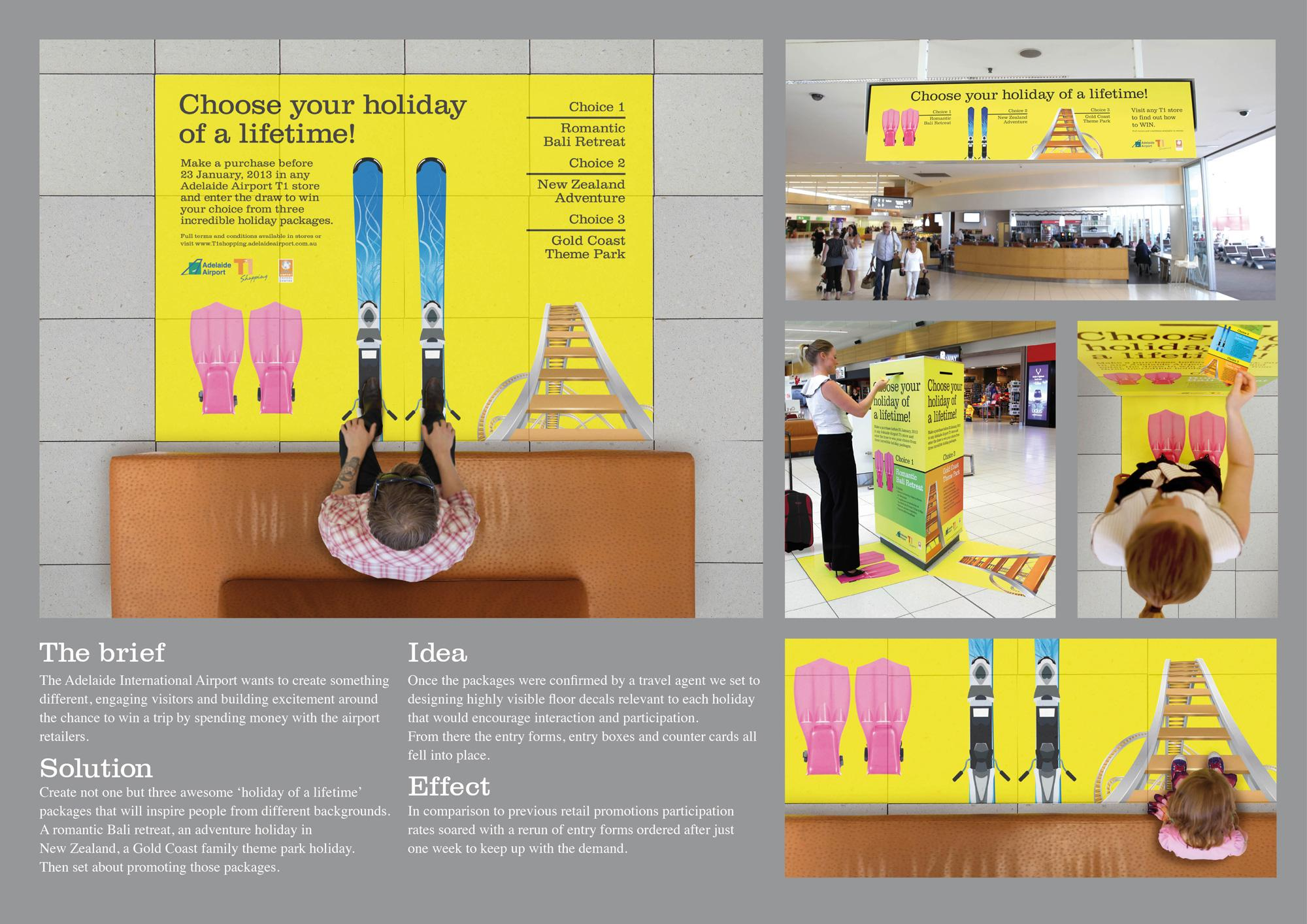 Adelaide Airport Ambient Ad -  Choose your own holiday