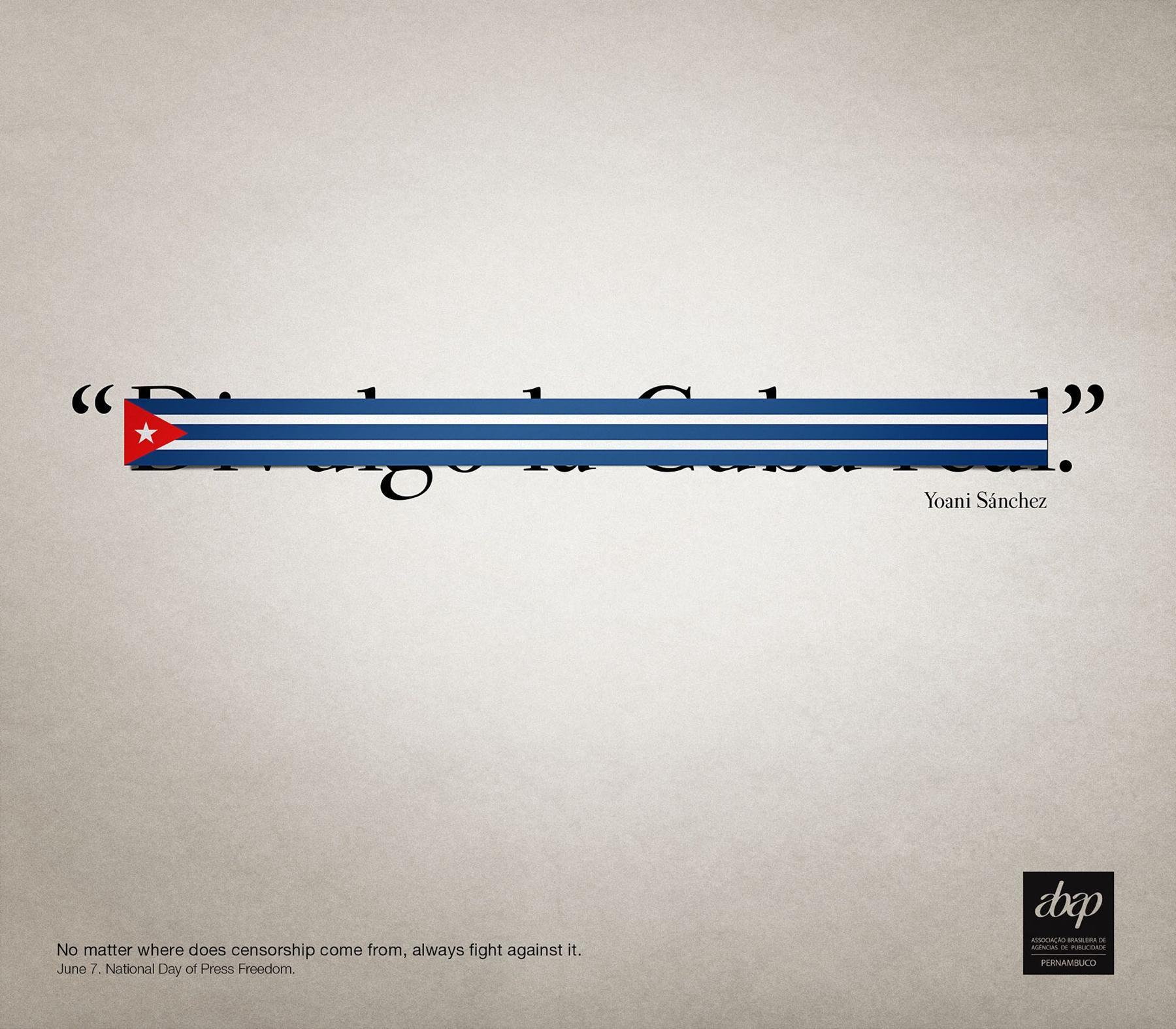 Abap Print Ad -  Yoani Sánchez