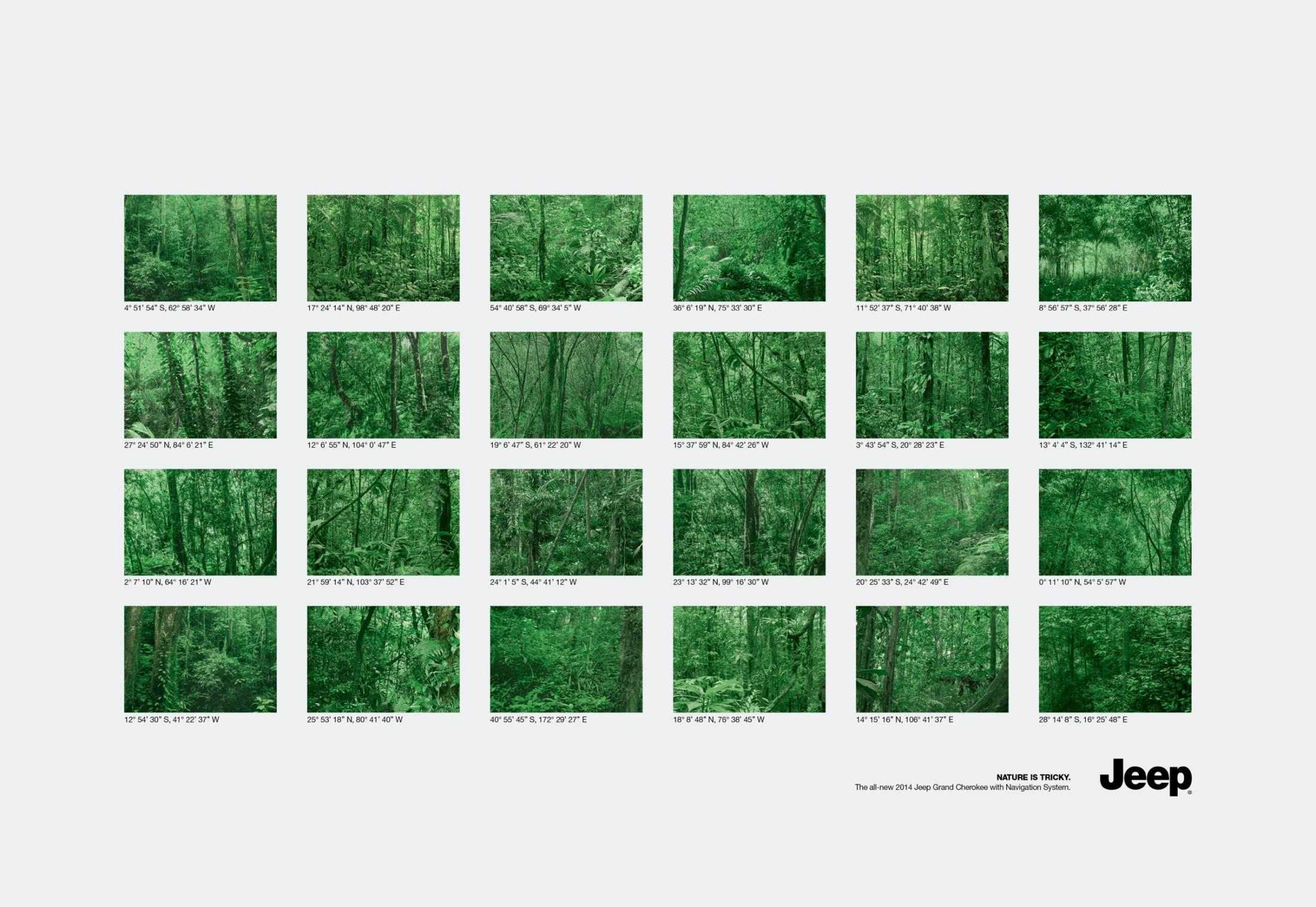 Jeep Print Ad -  Forests