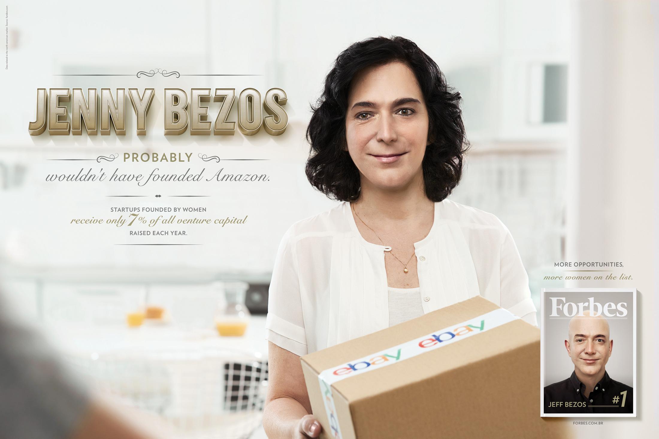 Forbes Print Ad - Jenny Bezos