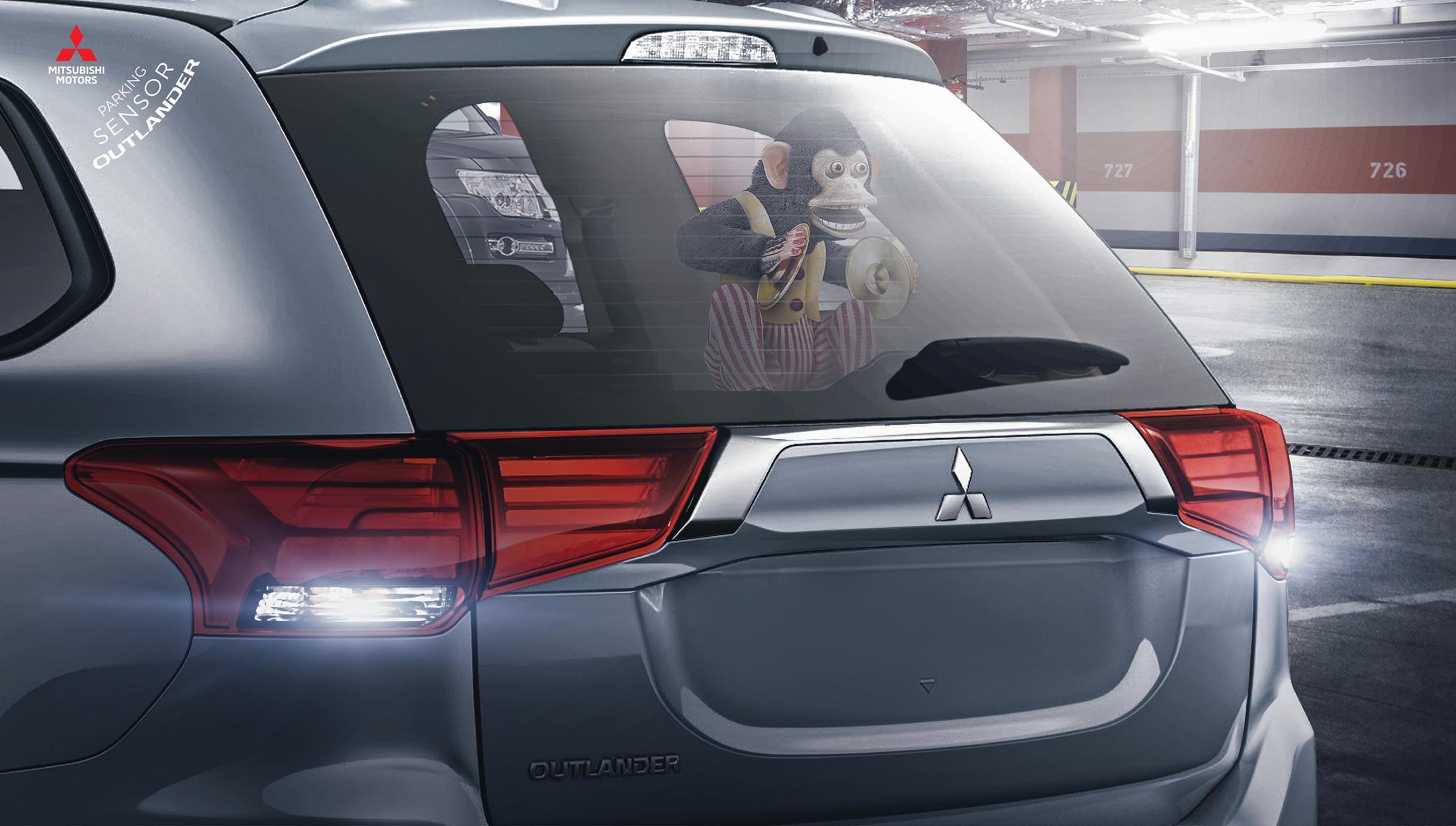 Mitsubishi Print Ad - Parking Sensor Outlander