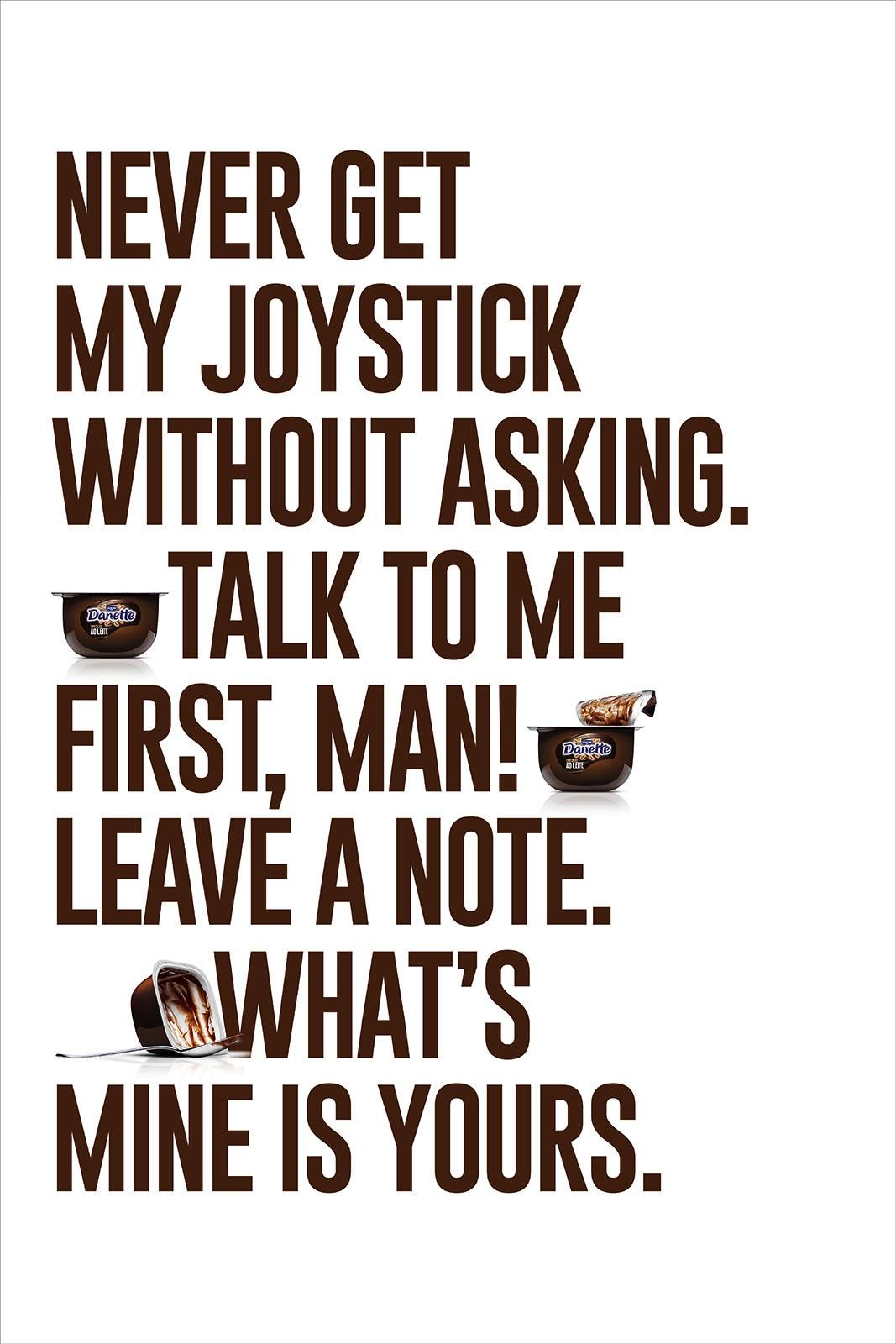 Danette Print Ad - Joystick