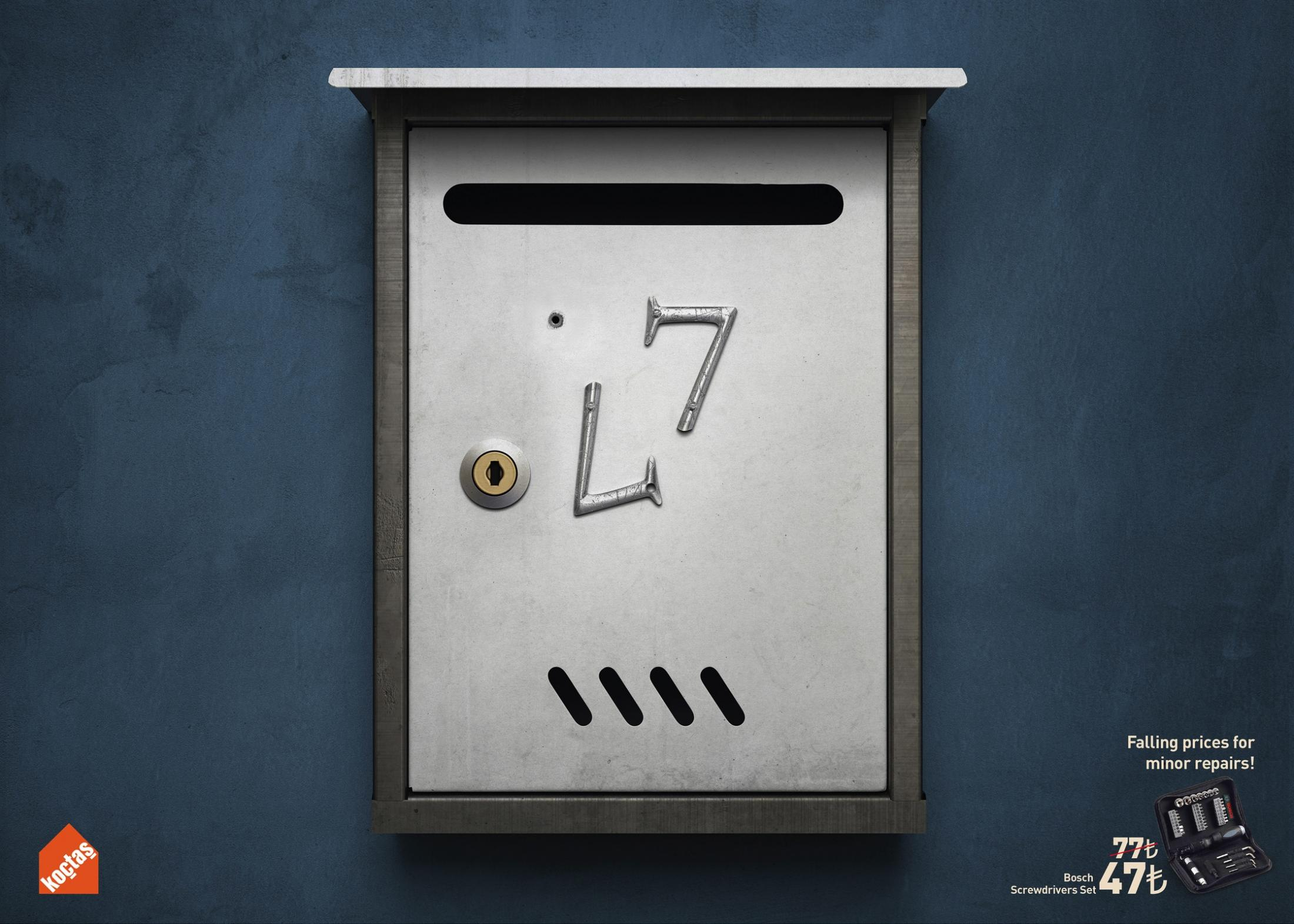Koctas Print Ad - Falling Prices - Letter Box