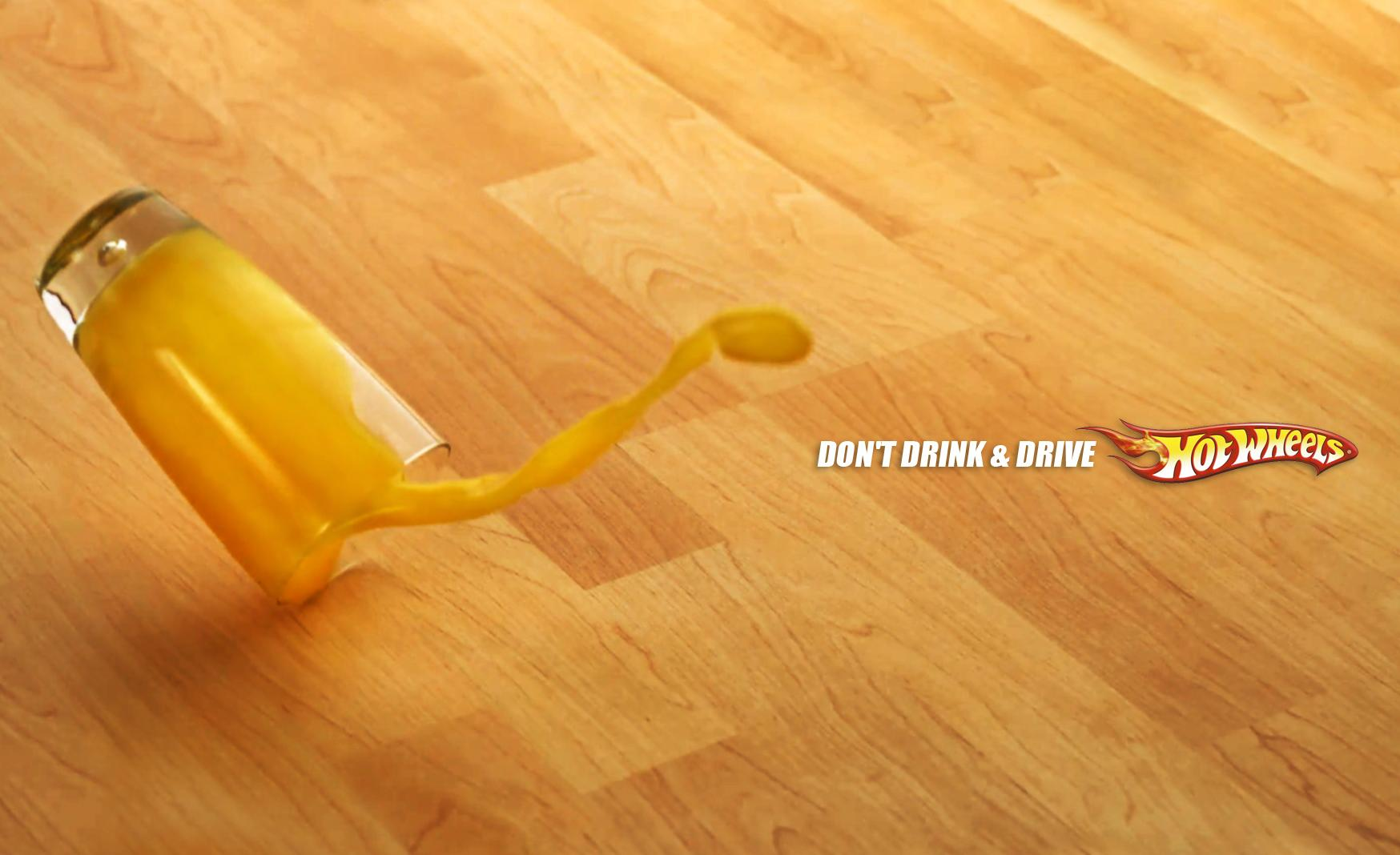 Hot Wheels Print Ad - Spilled Out - Juice