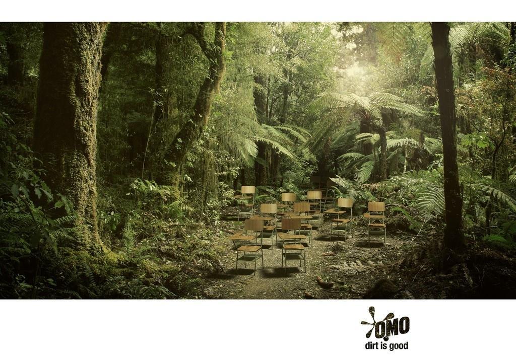 OMO Print Ad -  Classroom Jungle