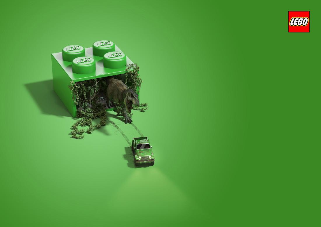 Lego Print Ad -  Jurassic