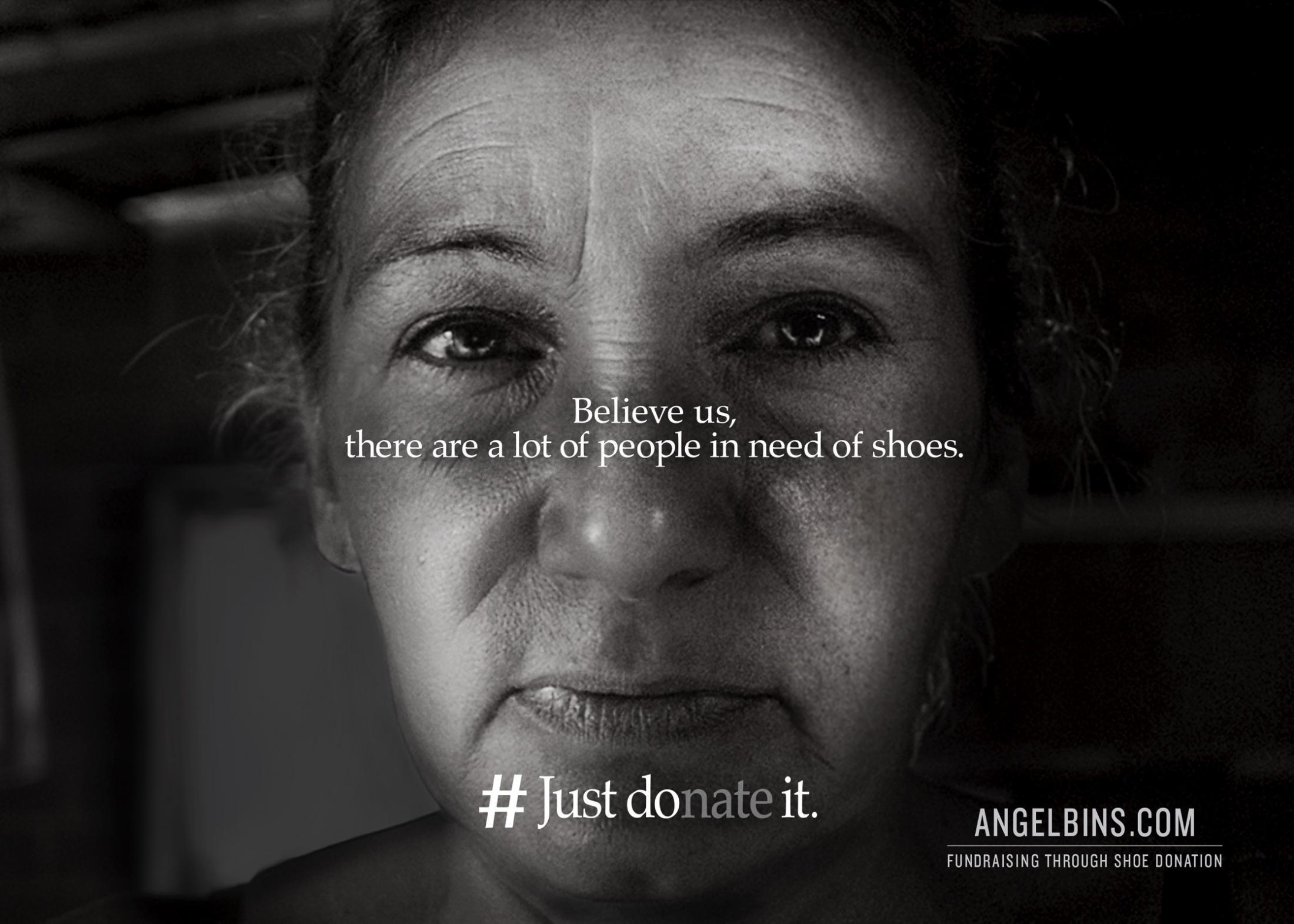 Angel Bins Print Ad - #Just Donate It, 2