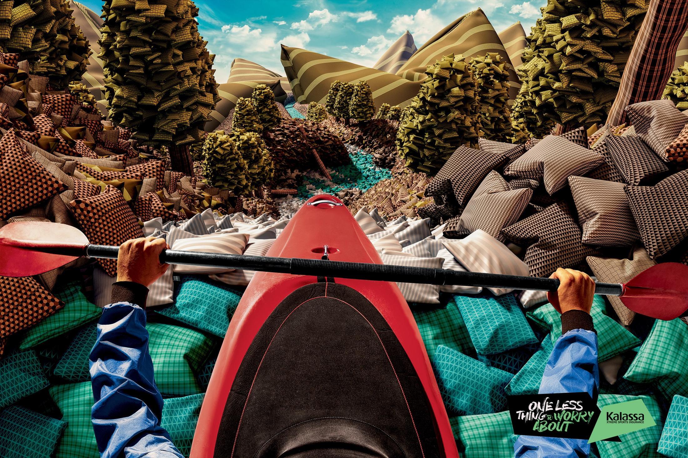 Kalassa Print Ad -  Worry less - Kayaking