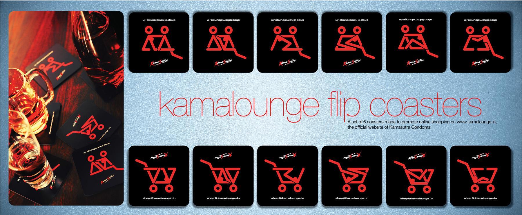 Kamasutra Direct Ad -  Kamalounge Flip Coasters