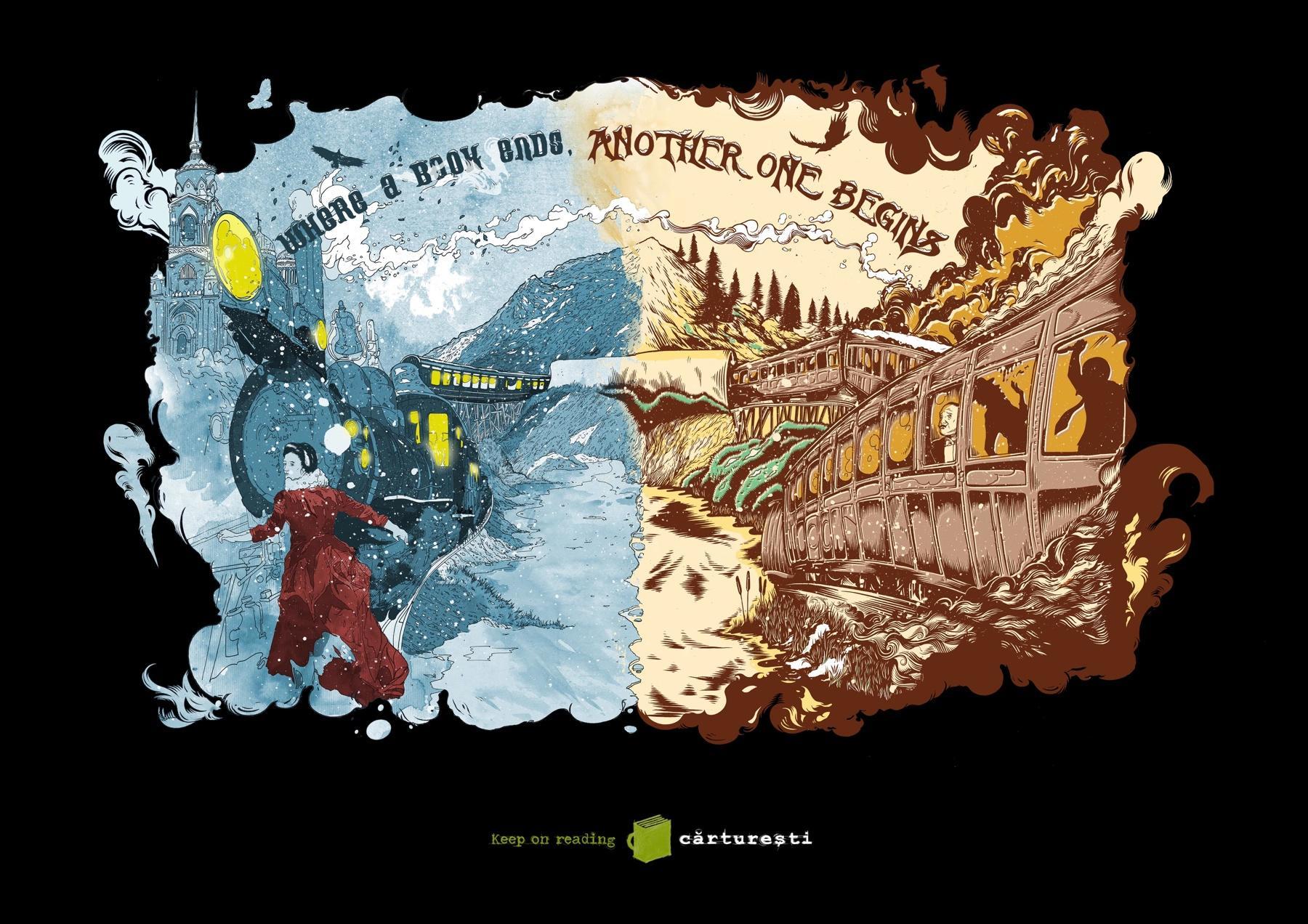 Carturesti Book Store Print Ad -  Karenina Express