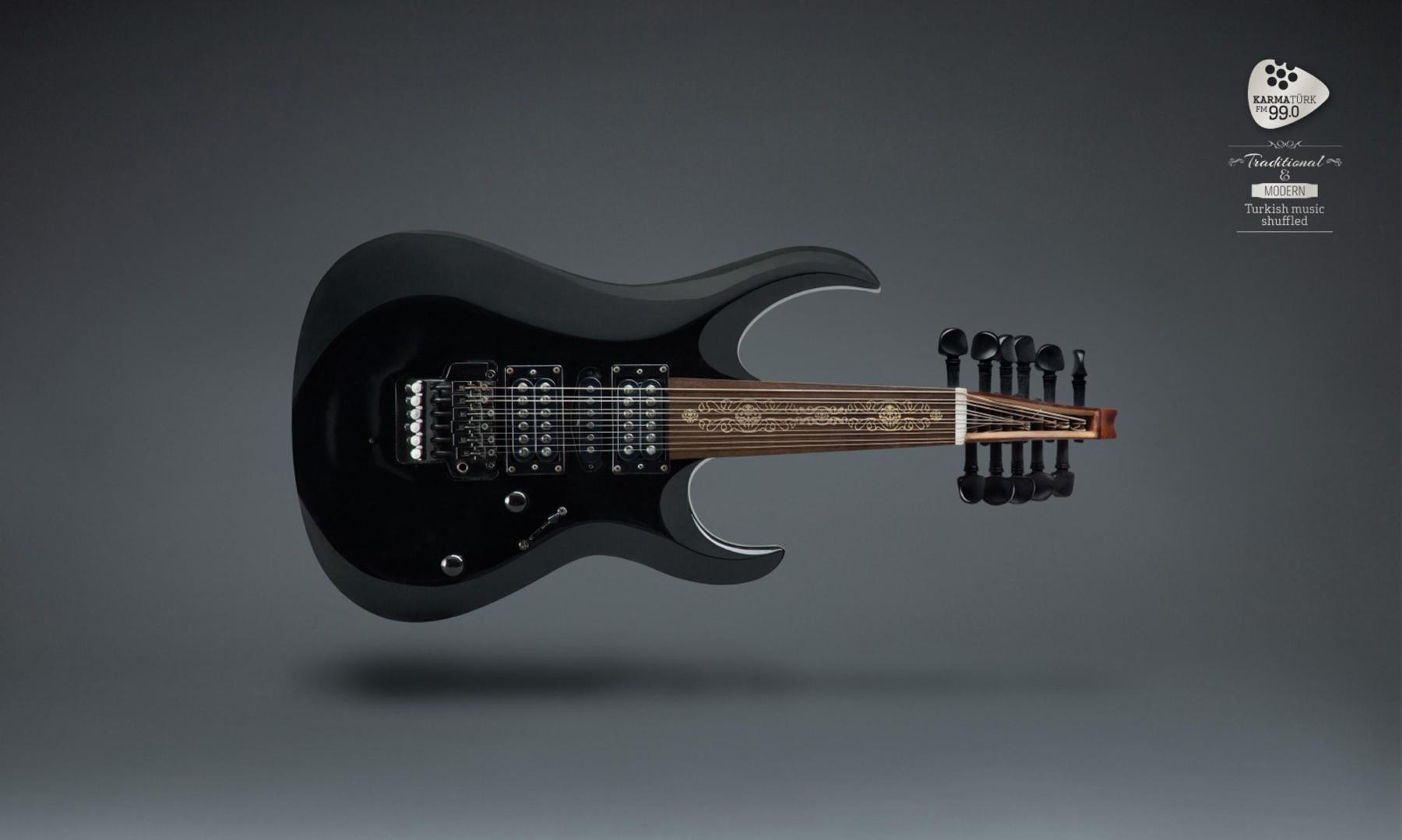 Karmaturk Print Ad -  Electro Guitar/Oud