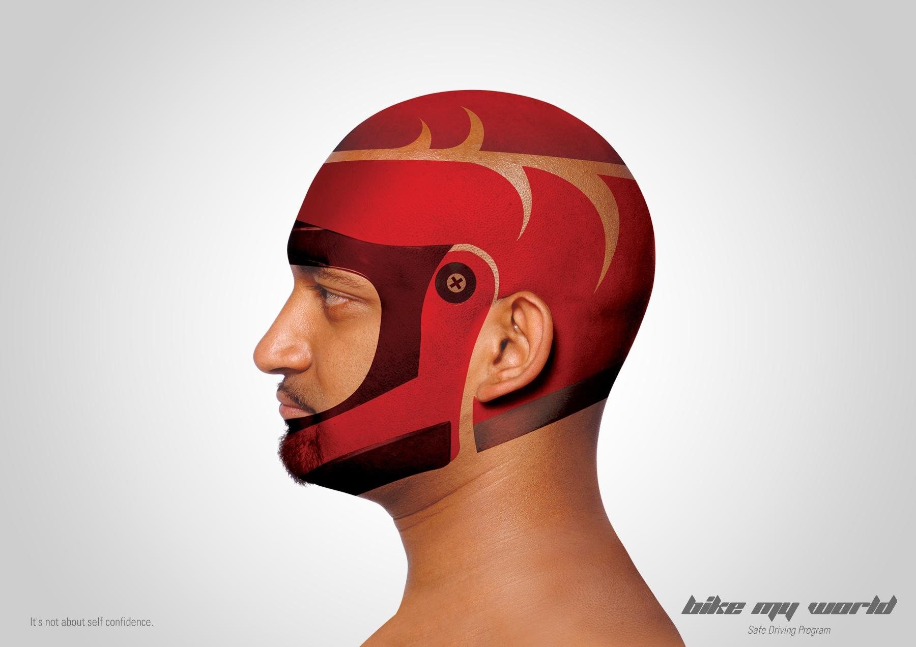 Bike My World Print Ad -  Helmet, 1