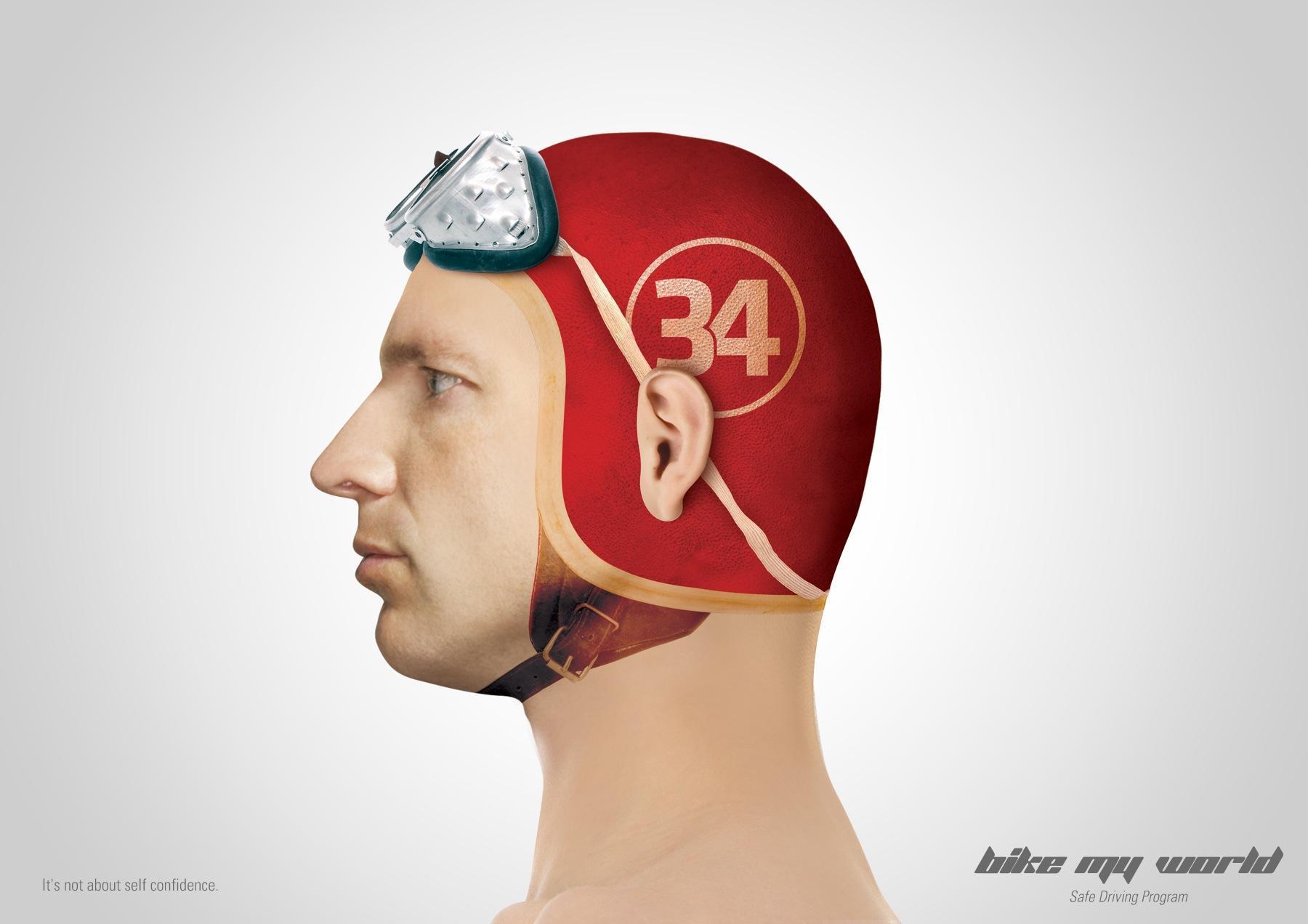 Bike My World Print Ad -  Helmet, 2