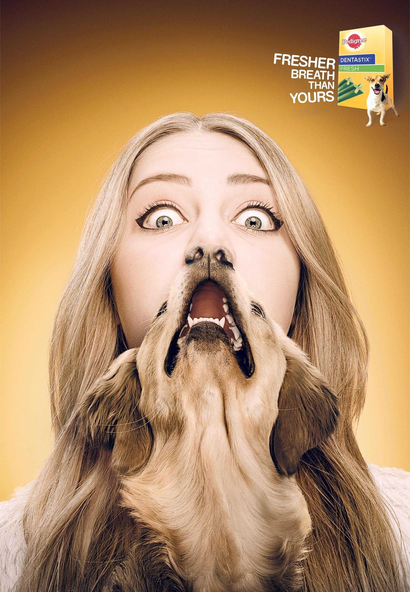 Pedigree Print Ad -  The freshest dog breath, Bluna