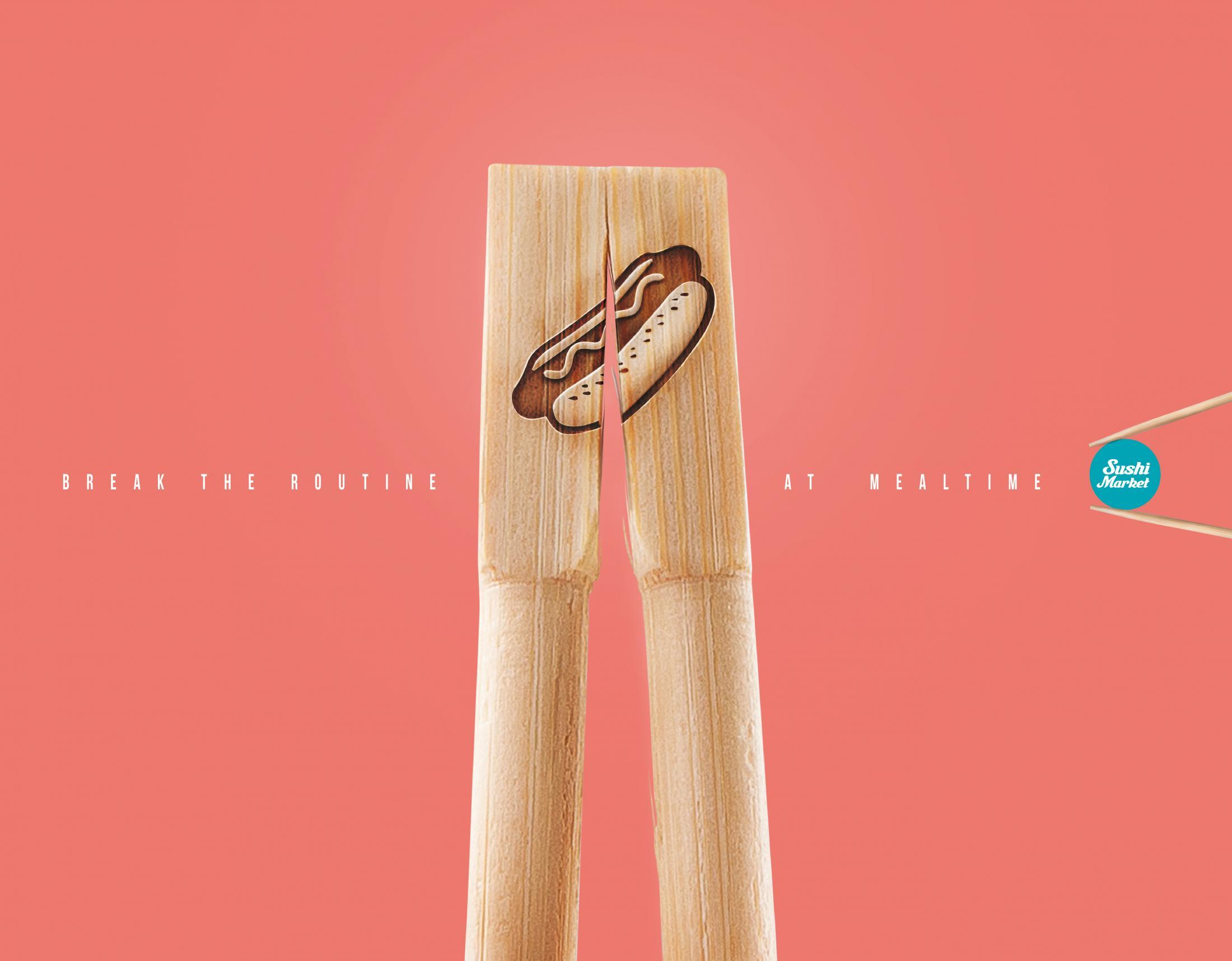 Sushi Market Print Ad - Hot dog