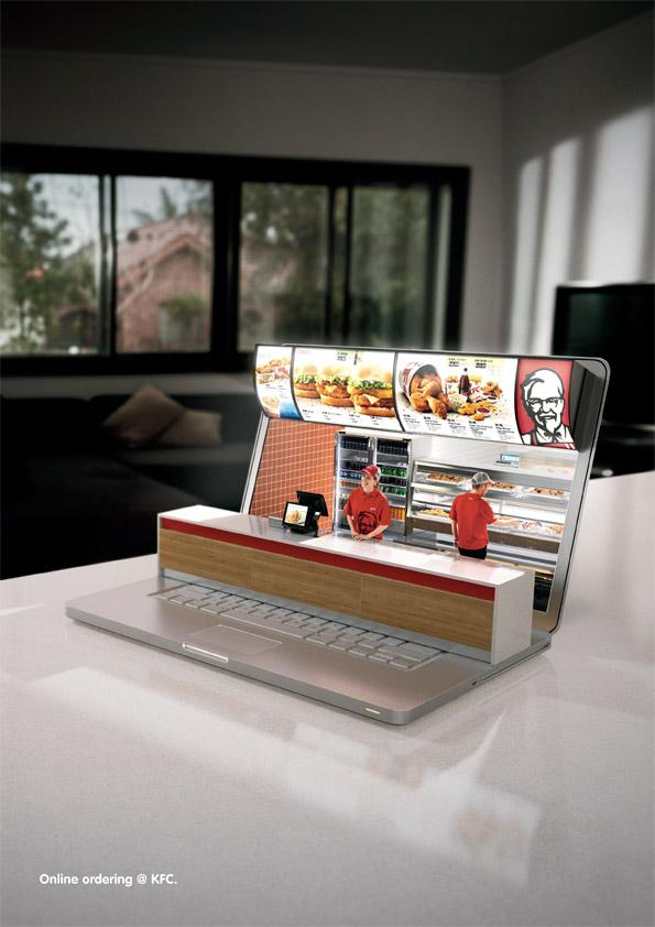 KFC Print Ad -  Online Ordering