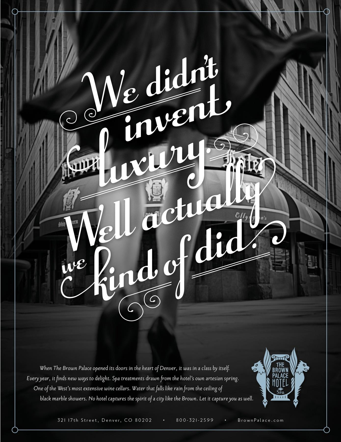 The Brown Palace Print Ad