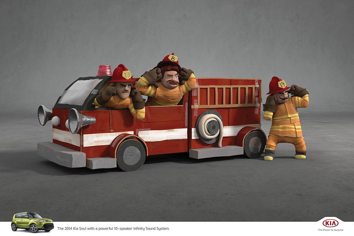 KIA Print Ad -  Firemen