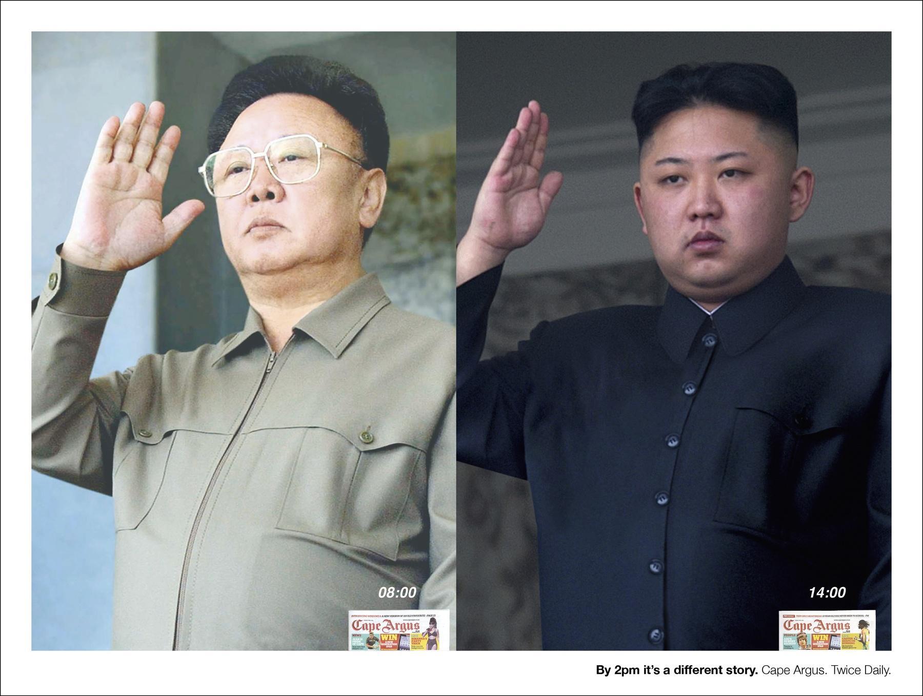 Cape Argus Print Ad -  Kim Jong