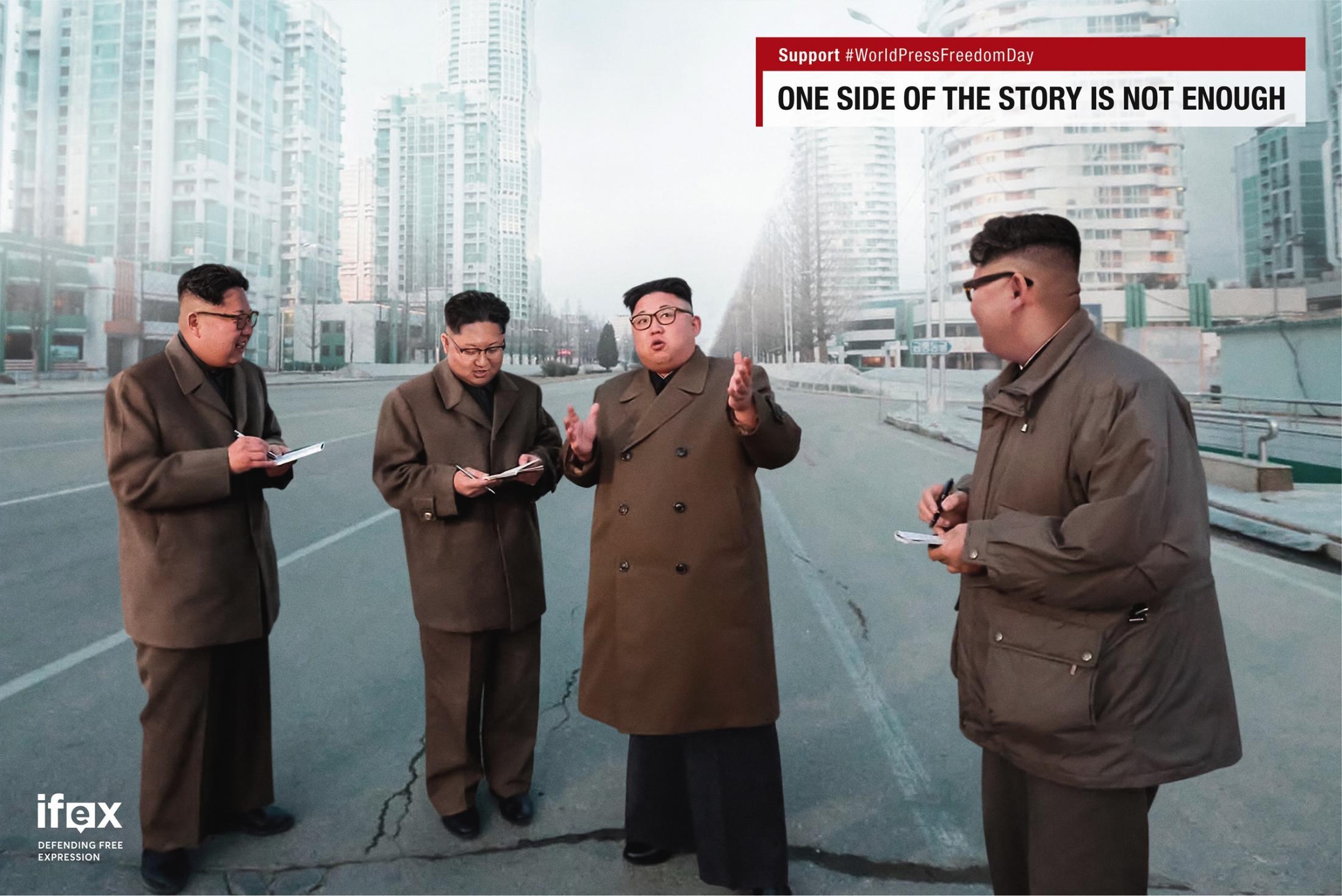 IFEX Print Ad - Leaders on Leaders - Kim Jong-un on Kim Jong-un