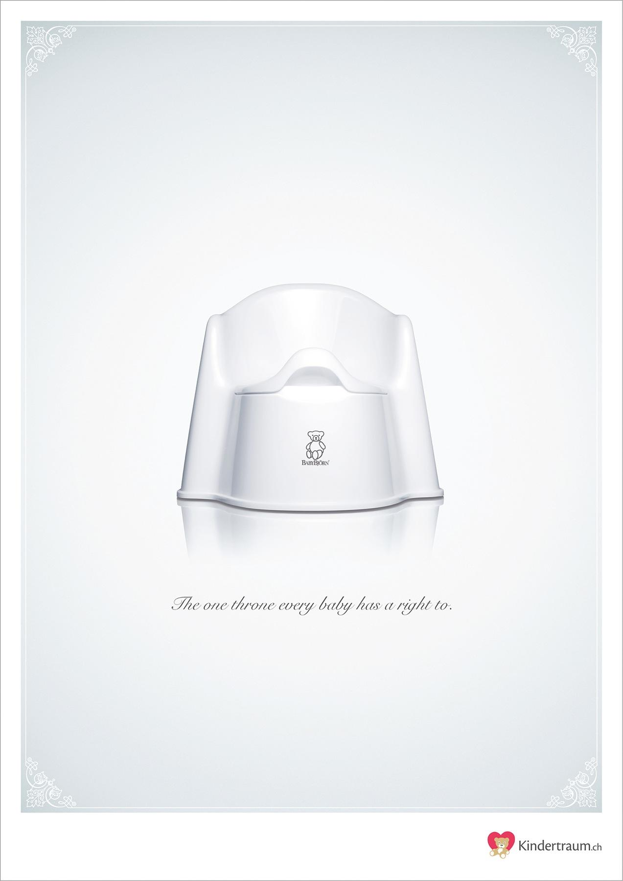 Kindertraum.ch Print Ad -  Throne