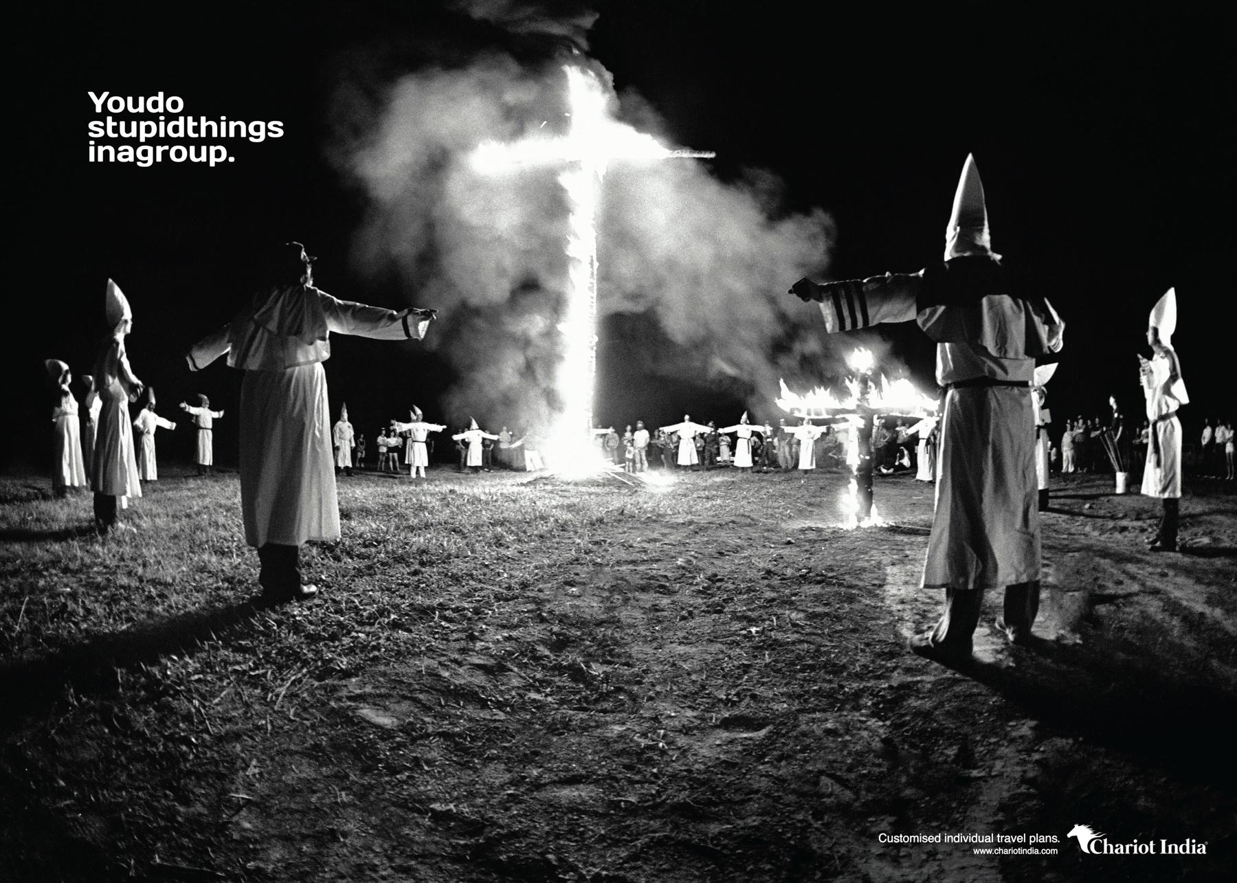 Chariot India Print Ad -  Klu Klux Klan