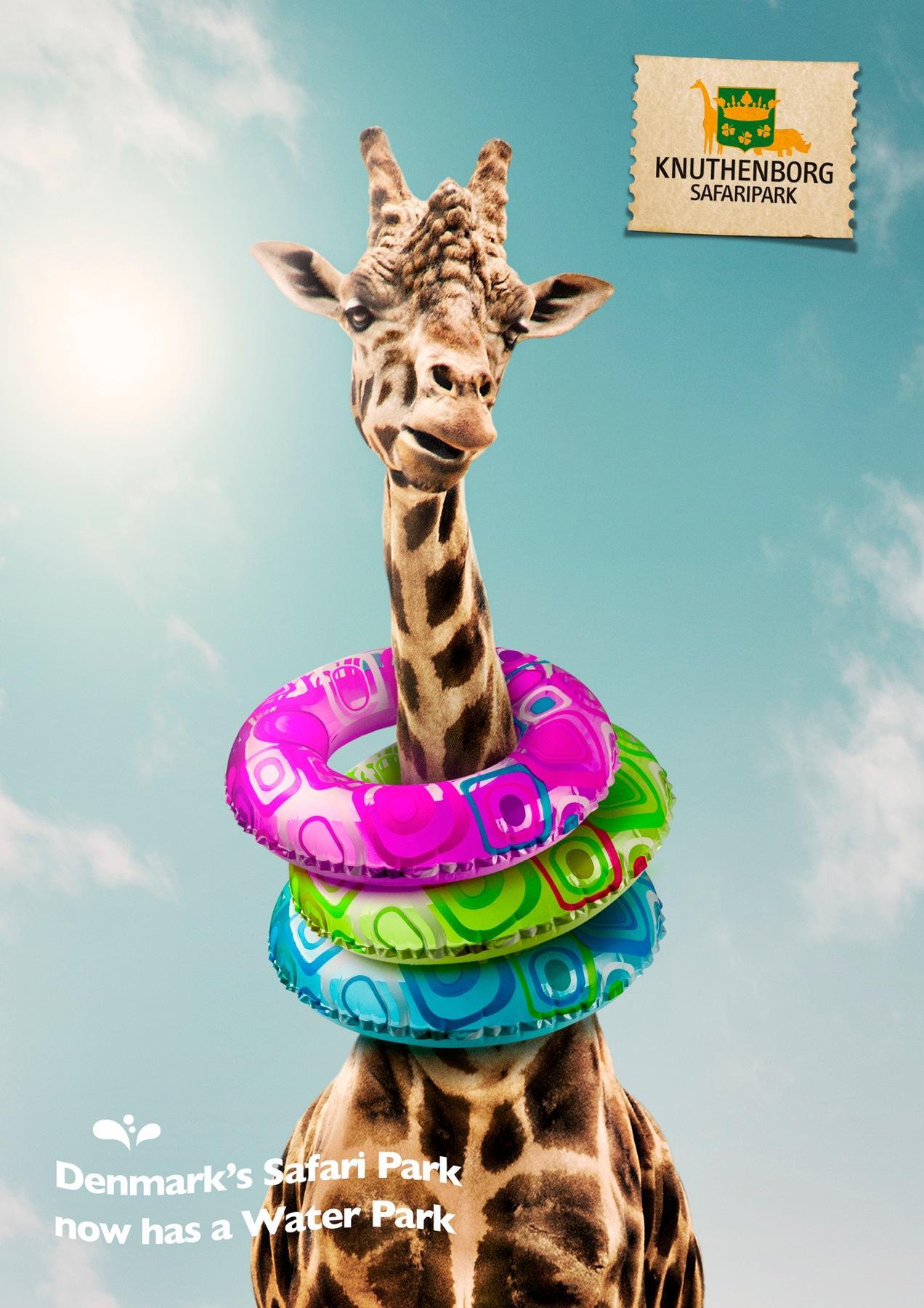 Knuthenborg Safari Park Print Ad -  Giraffe