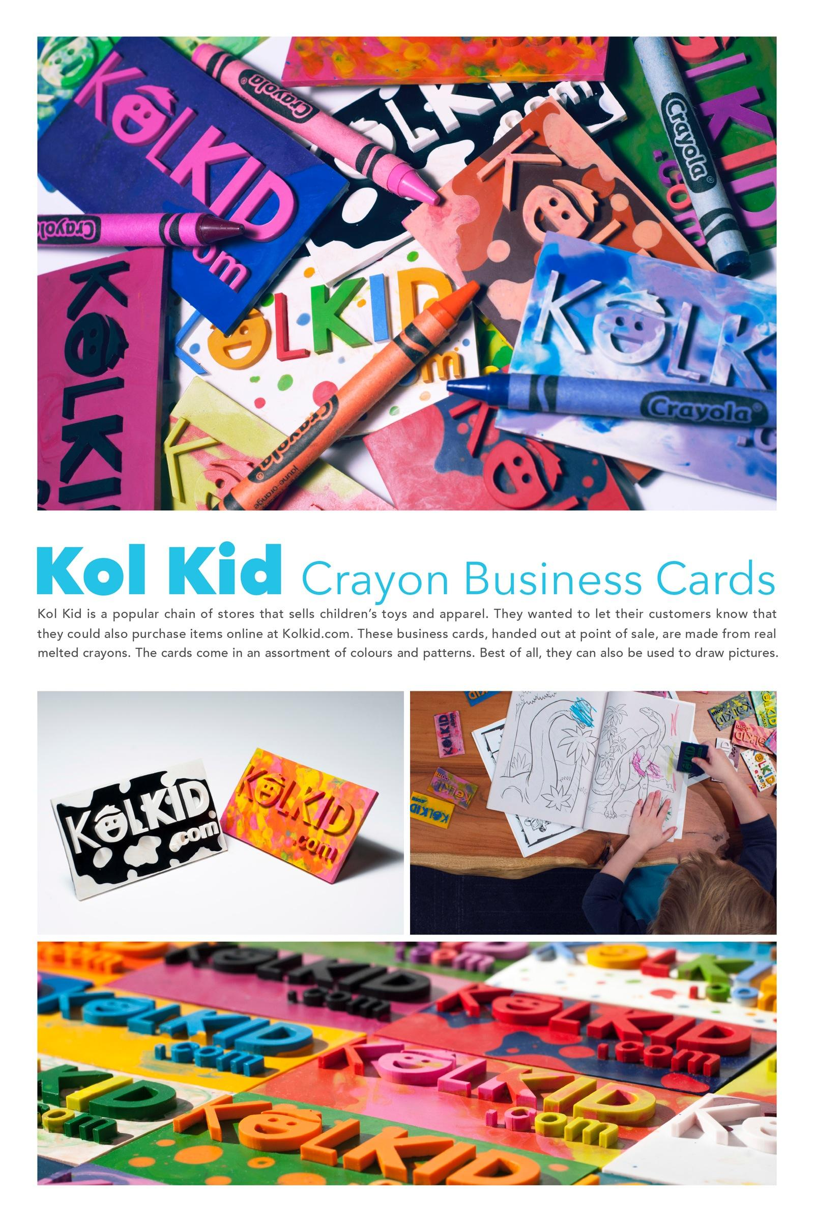 Kol Kid Direct Advert By ds+p: Kol Kid Crayon Business Cards | Ads ...