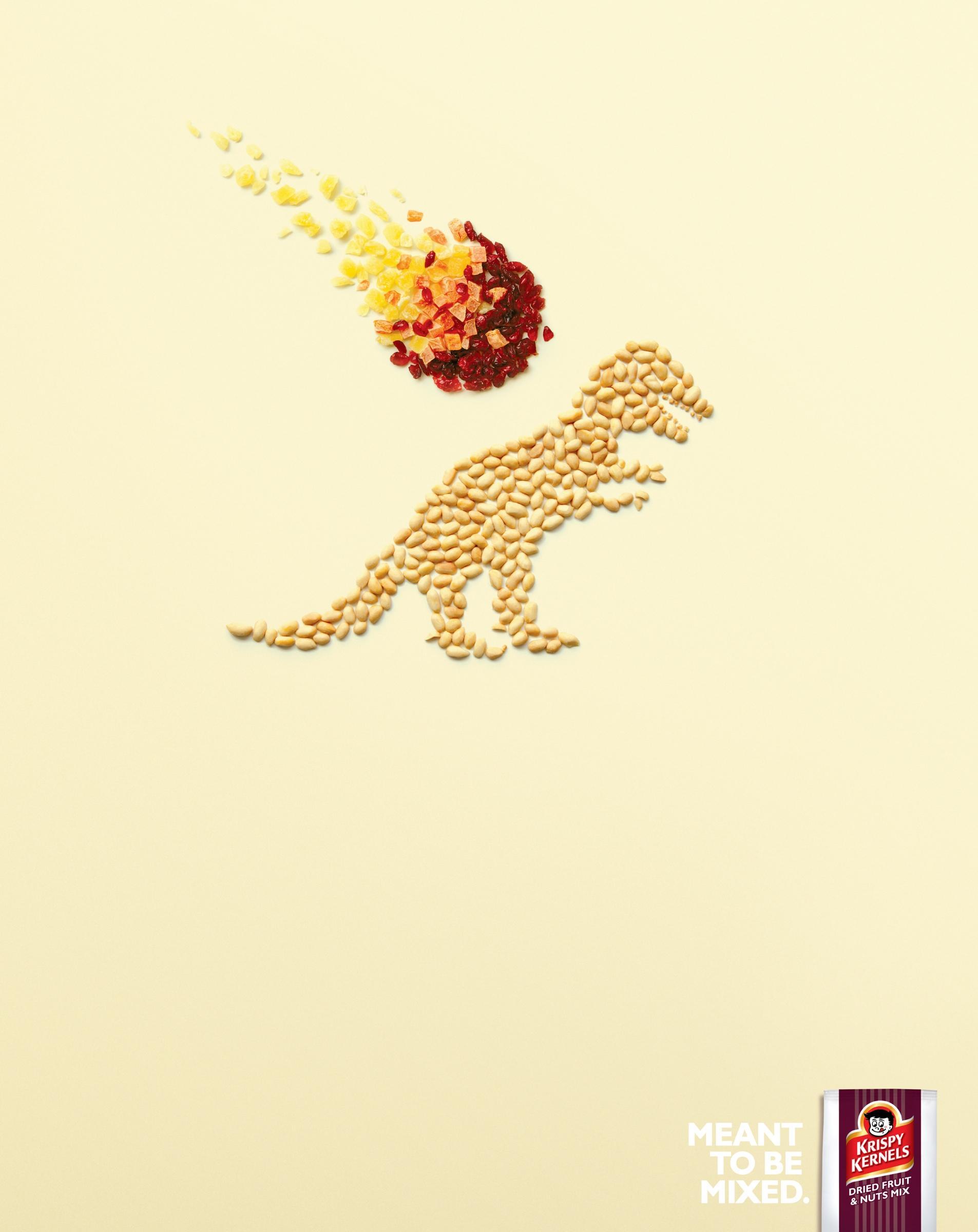 Krispy Kernels Print Ad -  Dinosaur