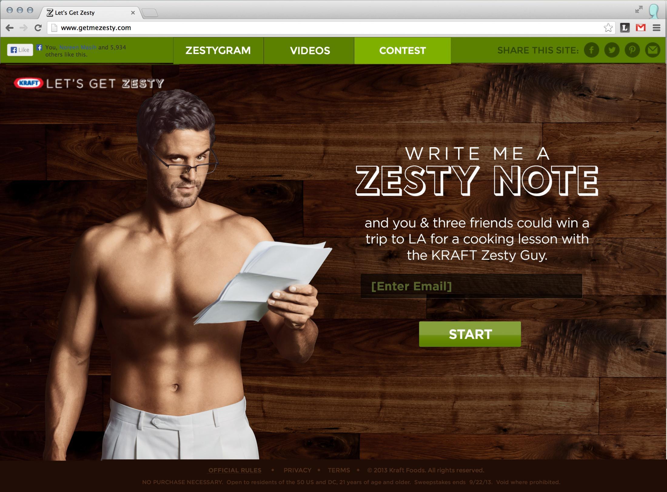Kraft Digital Ad -  Let's get zesty