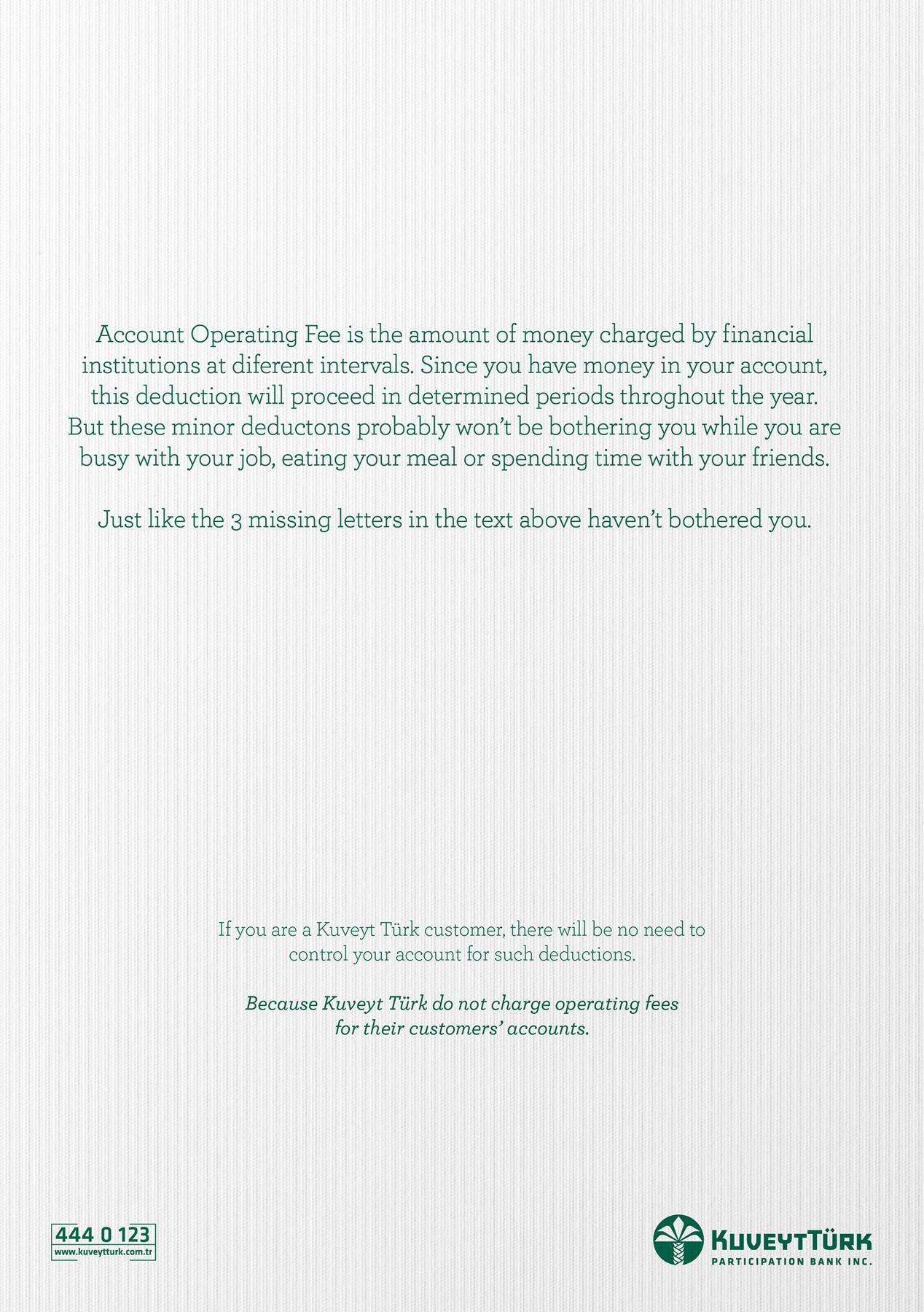 Kuveyt Türk Print Ad -  Missing Letters