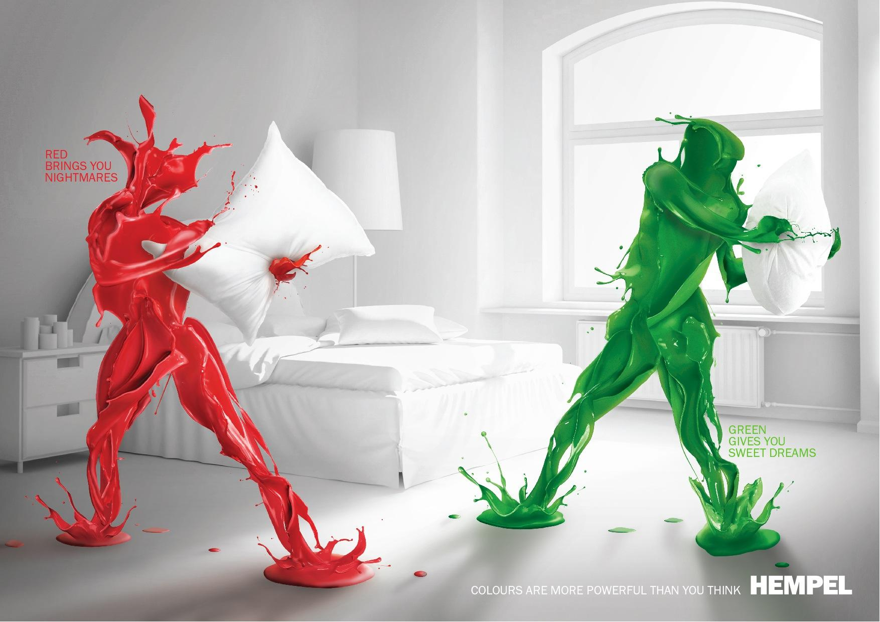Hempel Print Ad -  Bedroom