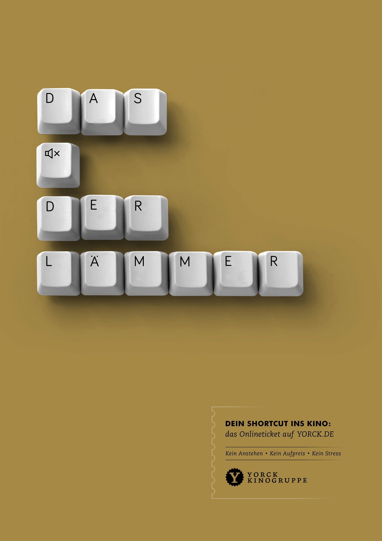 Yorck Cinemas Print Ad - The Silence of the Lambs