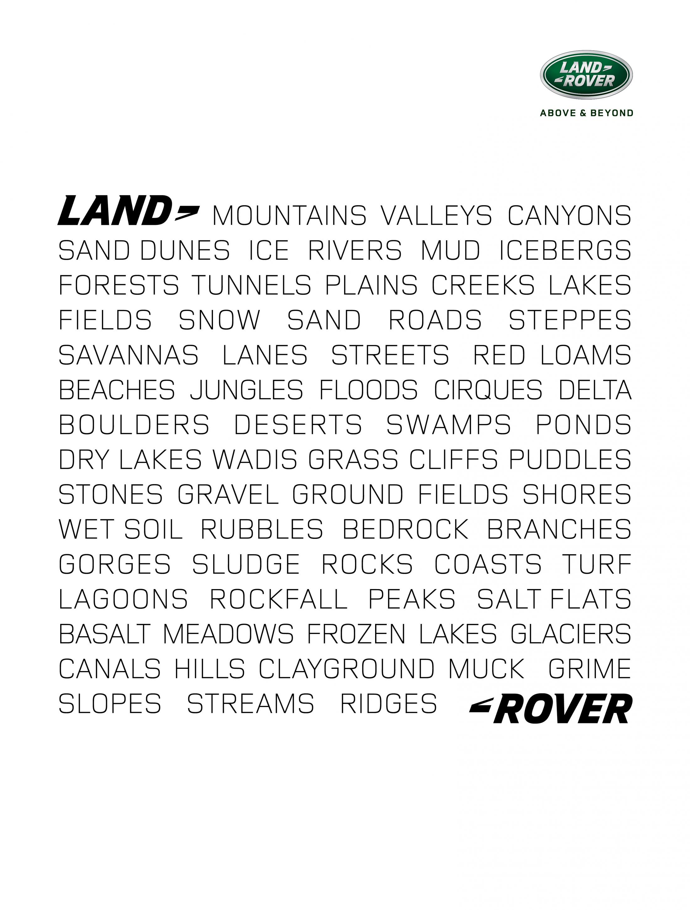 Land Rover Print Ad - Everywhere